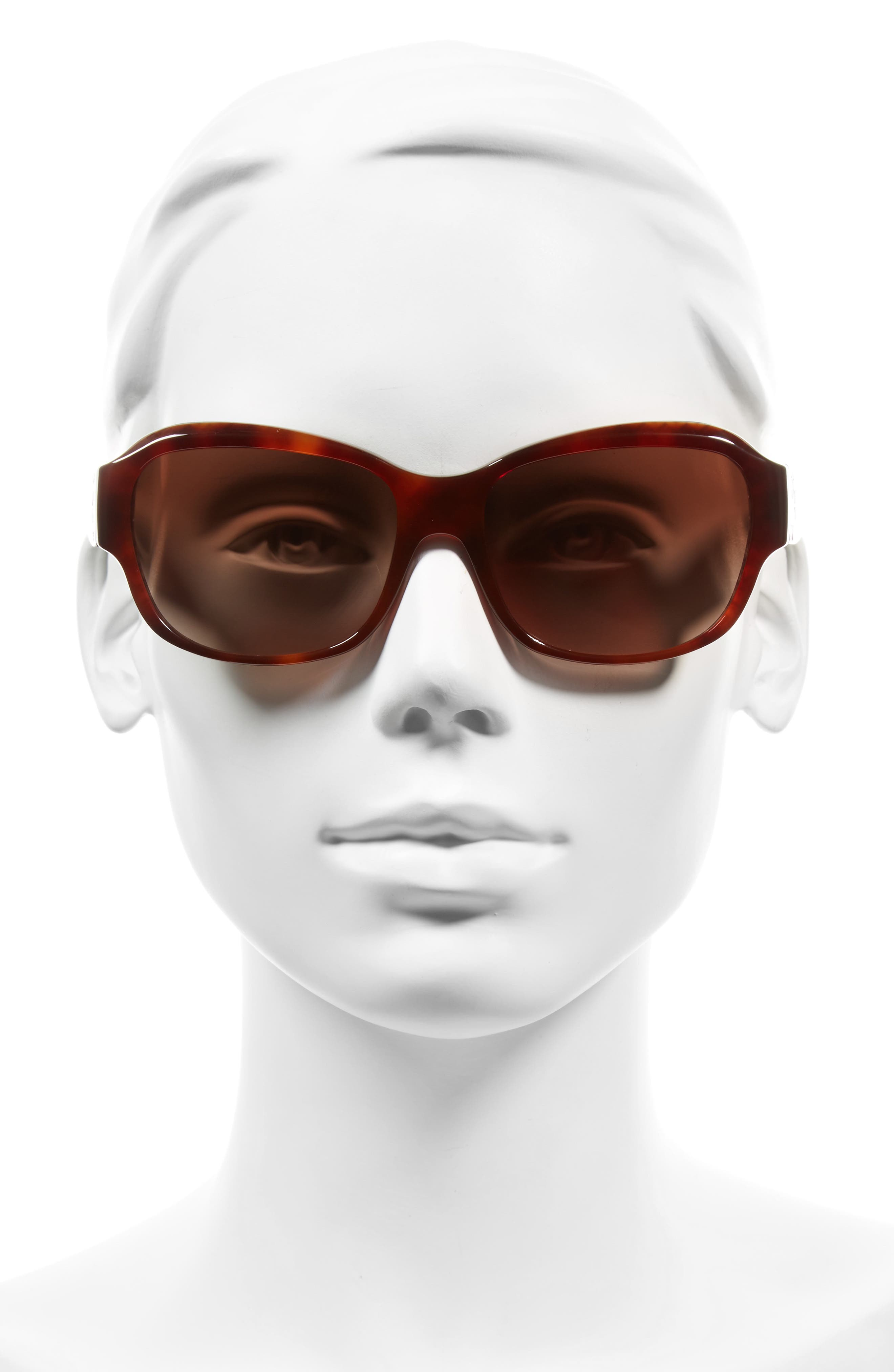 Alternate Image 2  - Tory Burch 57mm Gradient Sunglasses