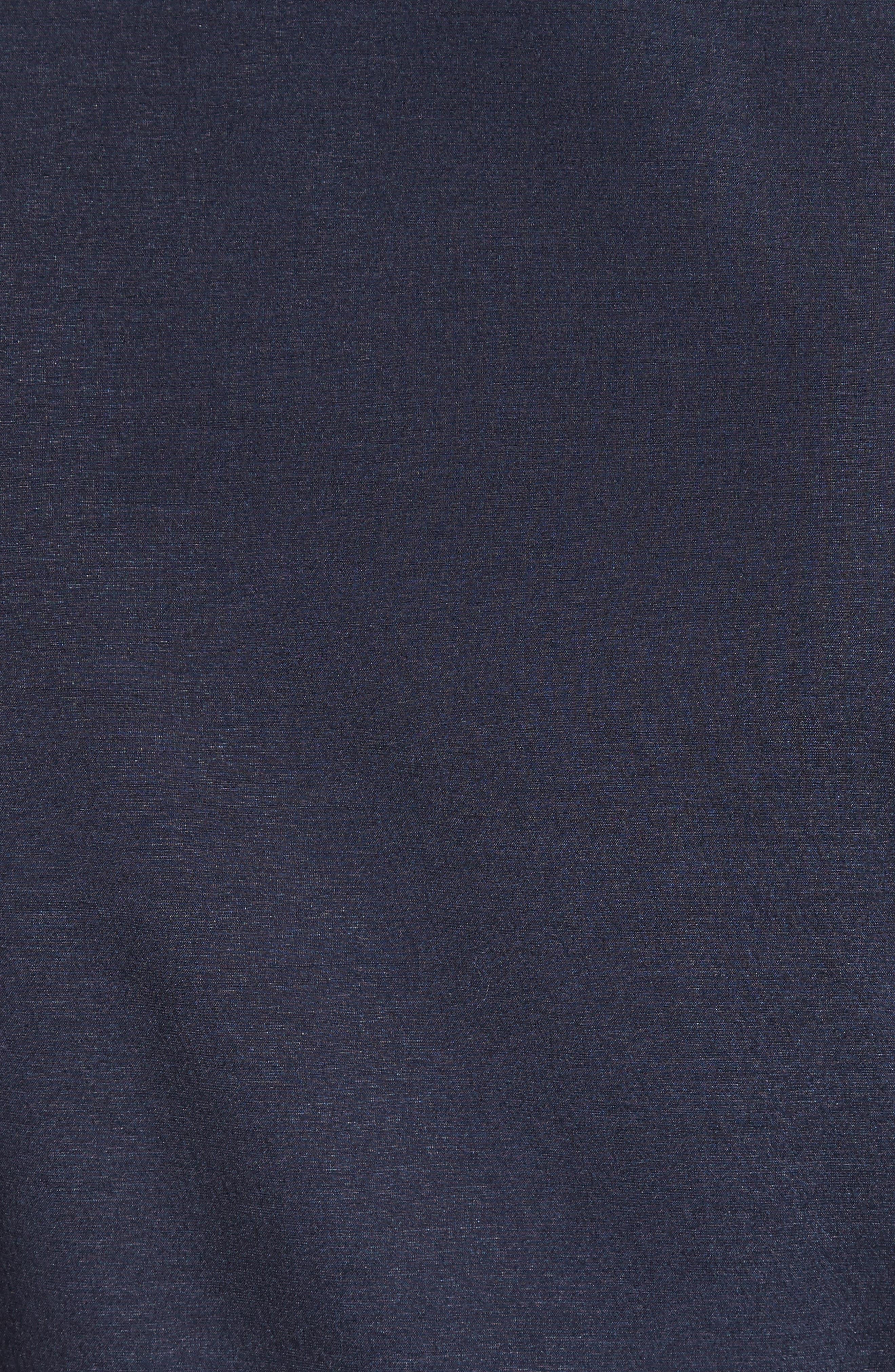 Cinema Silk & Stretch Wool Top,                             Alternate thumbnail 3, color,                             Ultra Marine