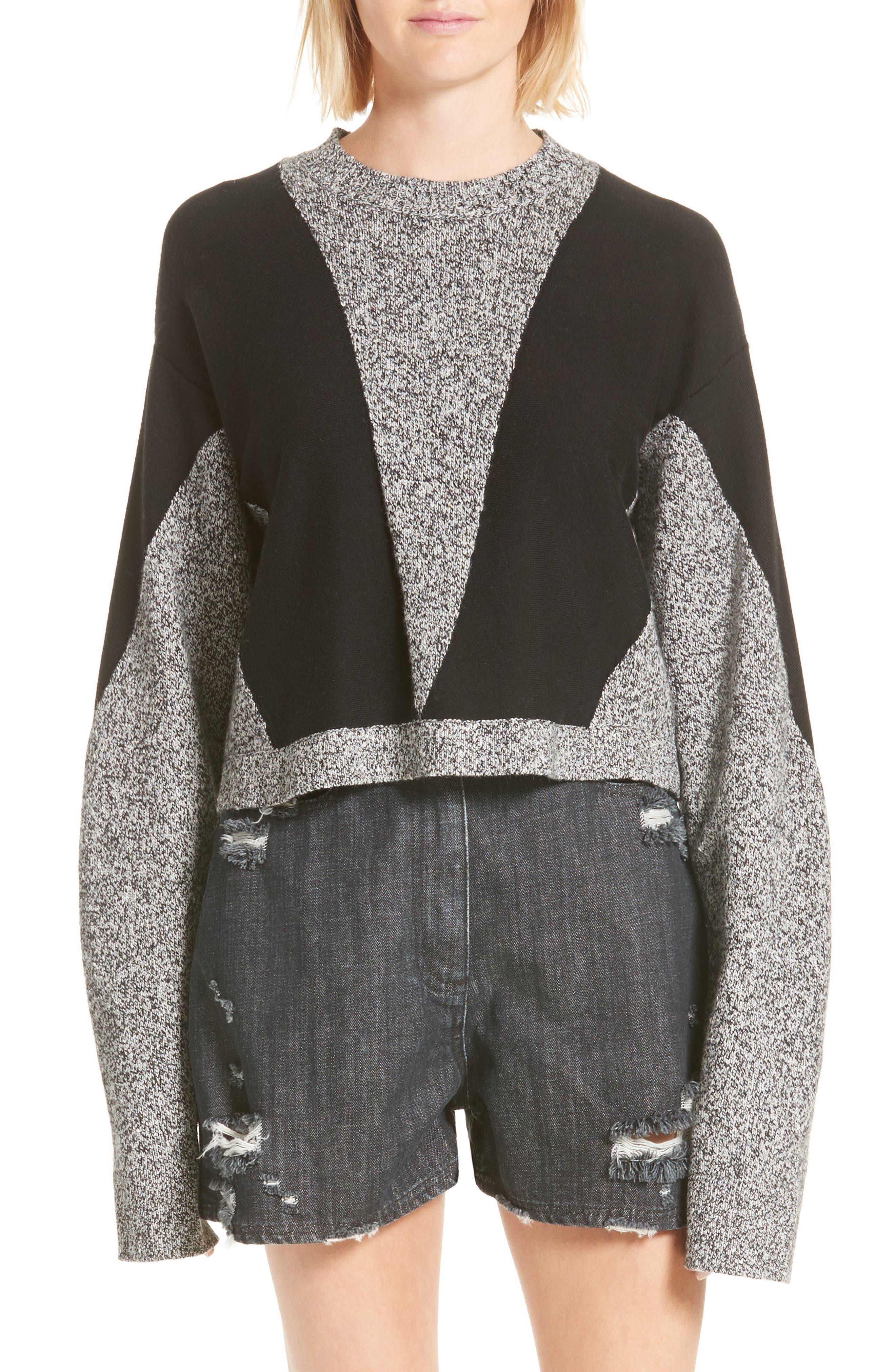 Sana Sweater,                             Main thumbnail 1, color,                             Grey Melange