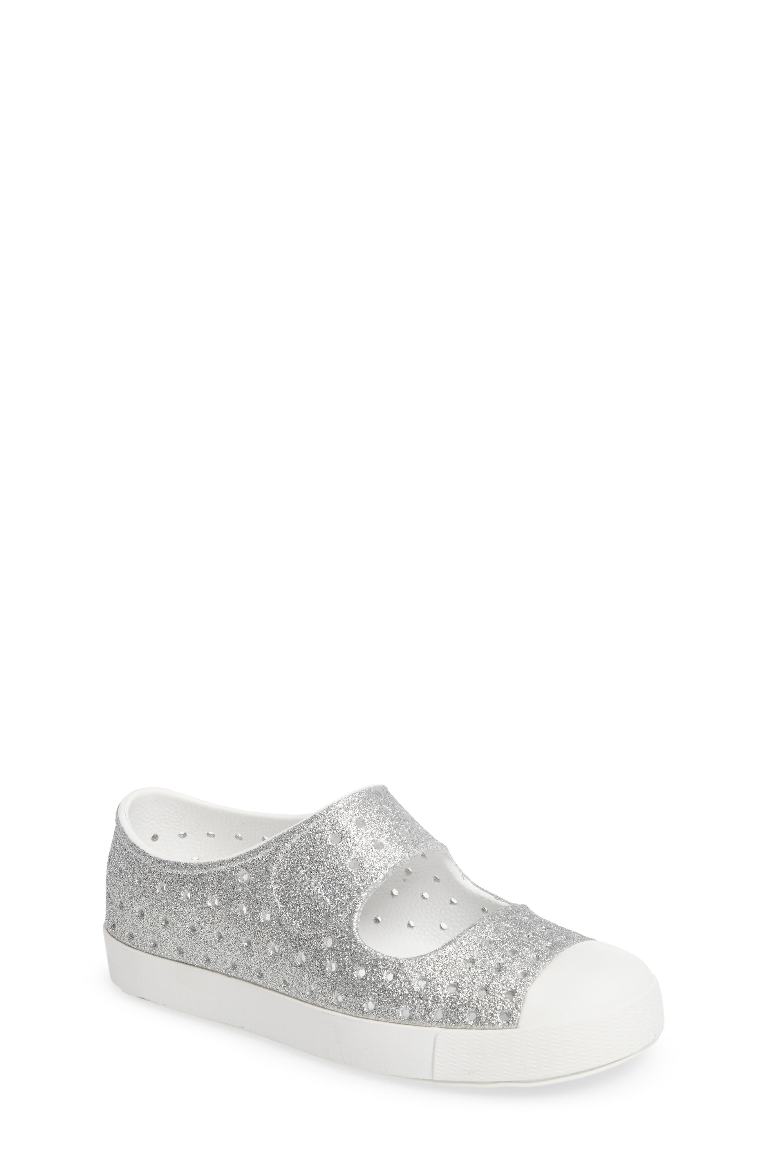 Alternate Image 1 Selected - Native Shoes Juniper Bling Perforated Mary Jane (Baby, Walker, Toddler & Little Kid)