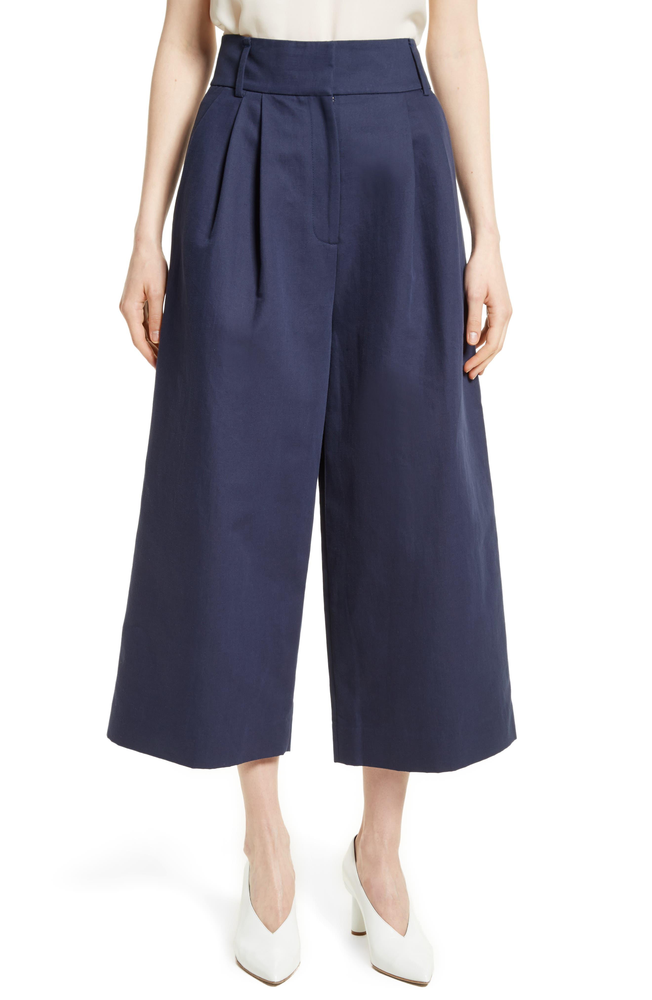 Chassis Plain Weave Crop Pants,                             Main thumbnail 1, color,                             Navy