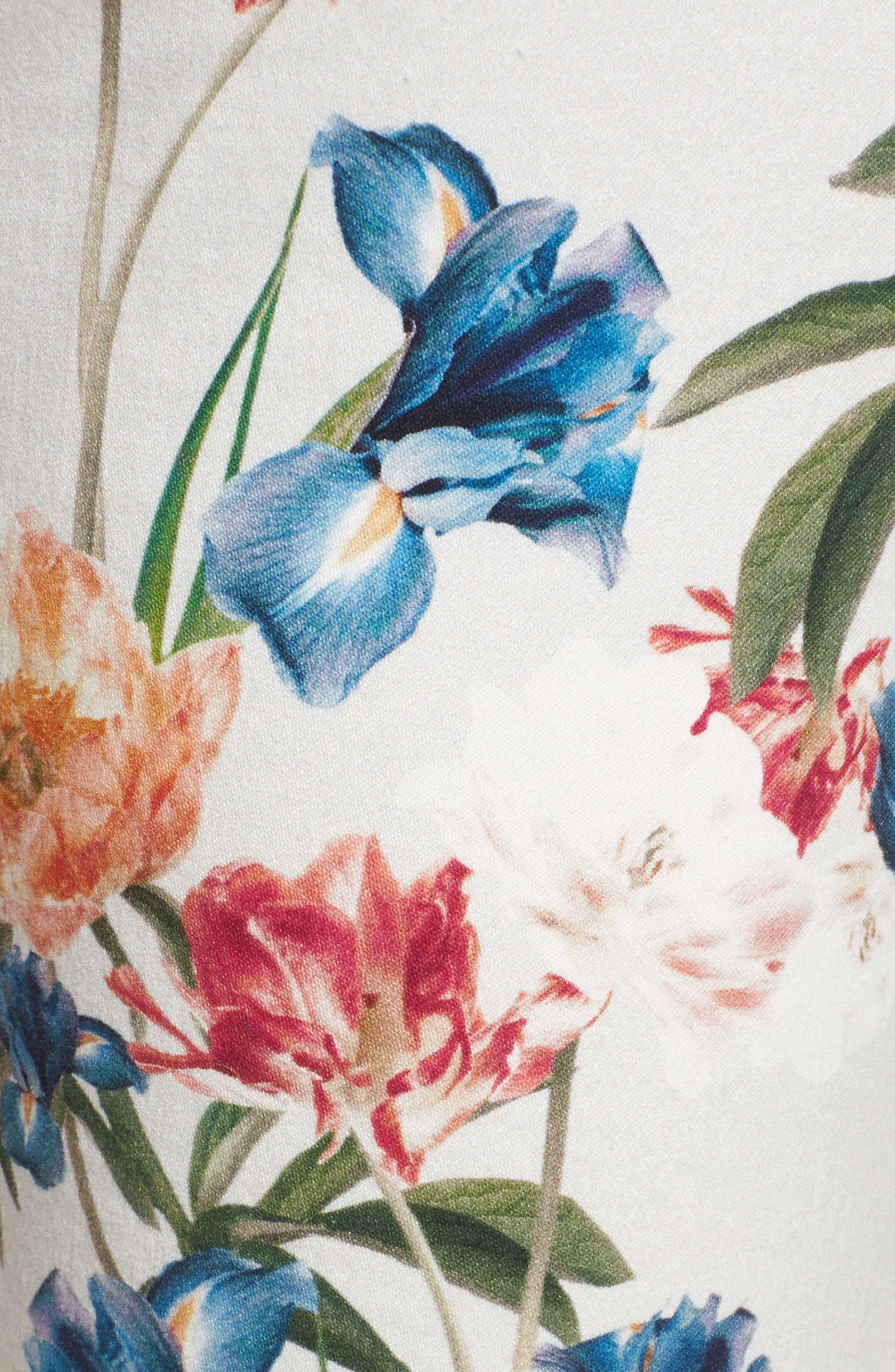 Alternate Image 5  - Jen7 Floral Print Crop Skinny Jeans