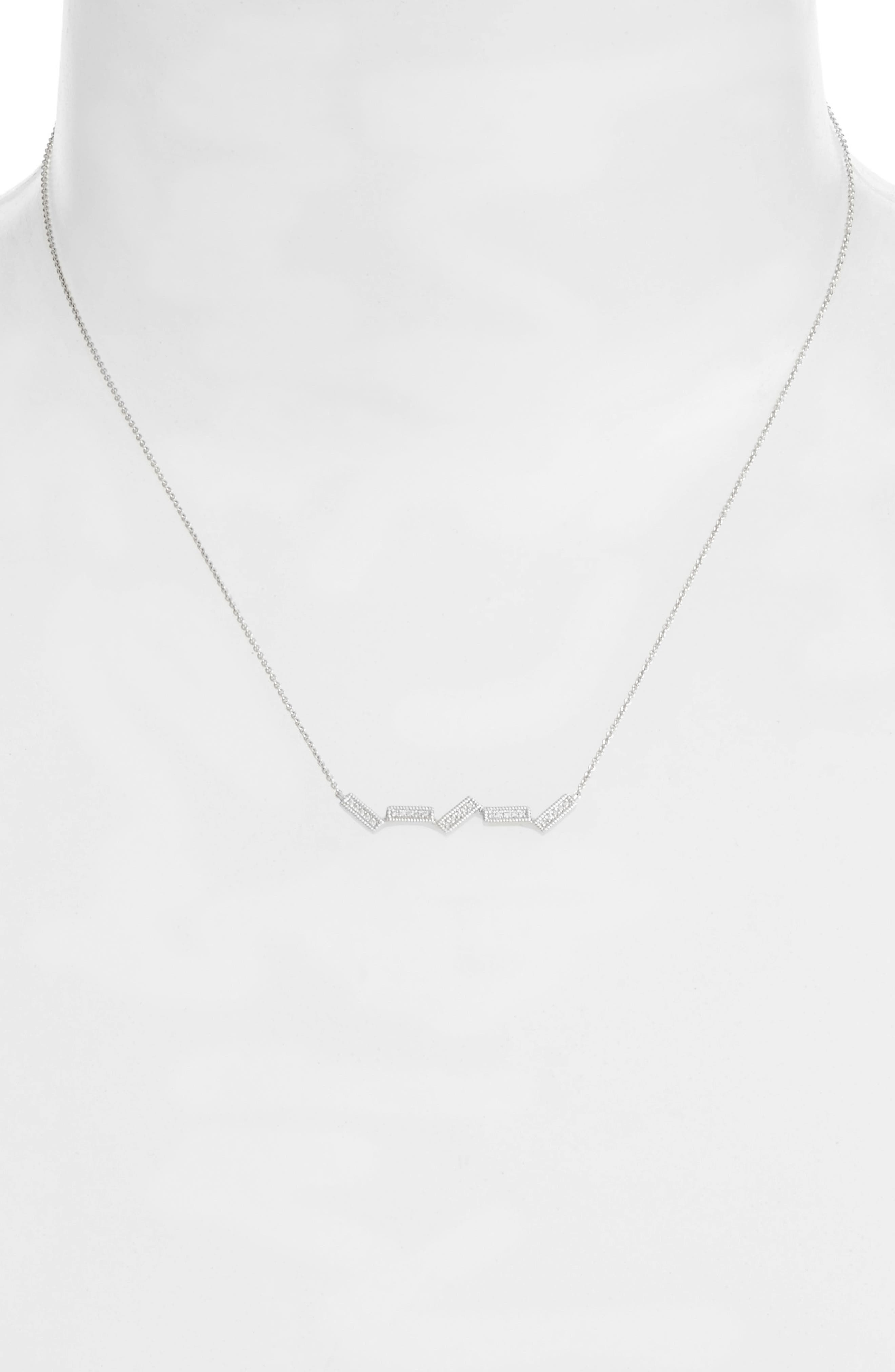 Alternate Image 2  - Dana Rebecca Designs Sylvie Rose Five-Bar Diamond Pendant Necklace