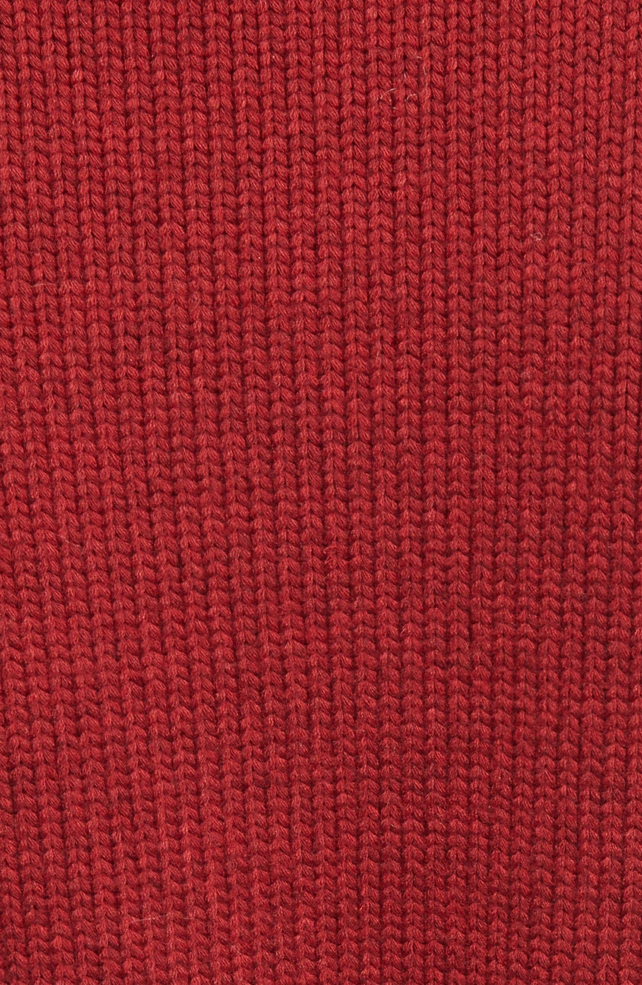 Bobble Knit Sweater,                             Alternate thumbnail 3, color,                             Ginger Red