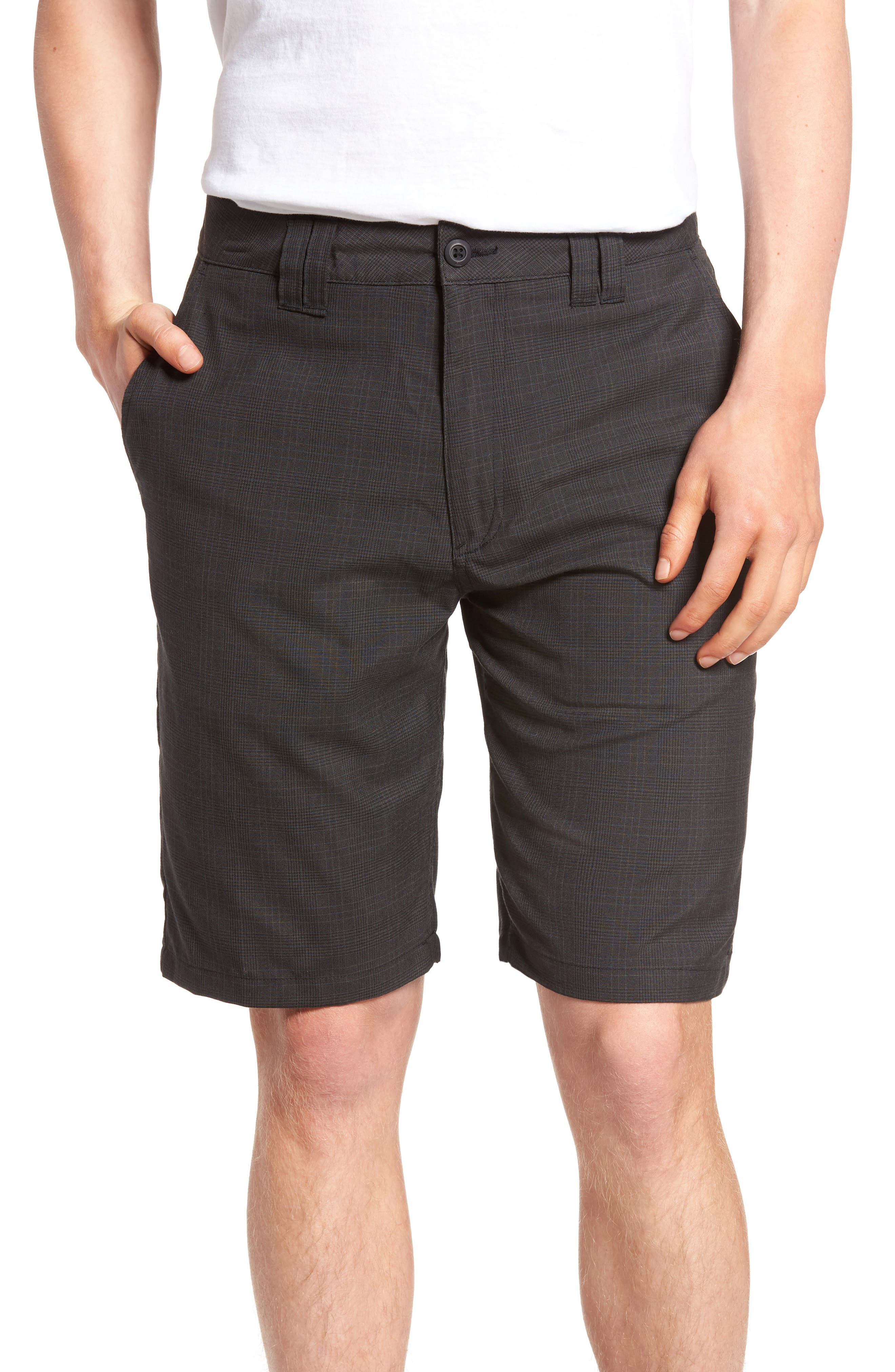 Delta Glen Plaid Shorts,                         Main,                         color, Black
