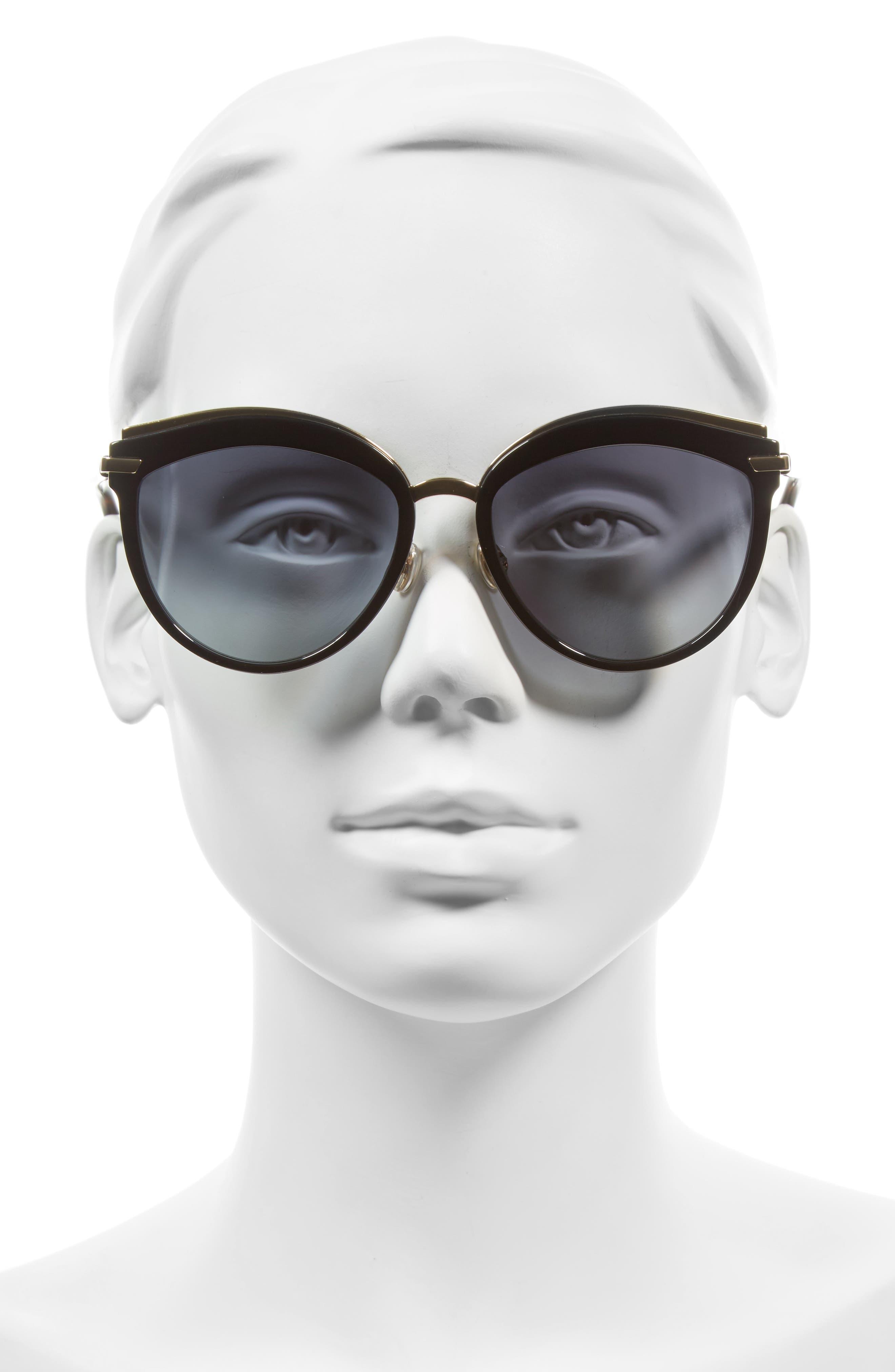 Offset 2 55mm Sunglasses,                             Alternate thumbnail 2, color,                             Black/ Havana