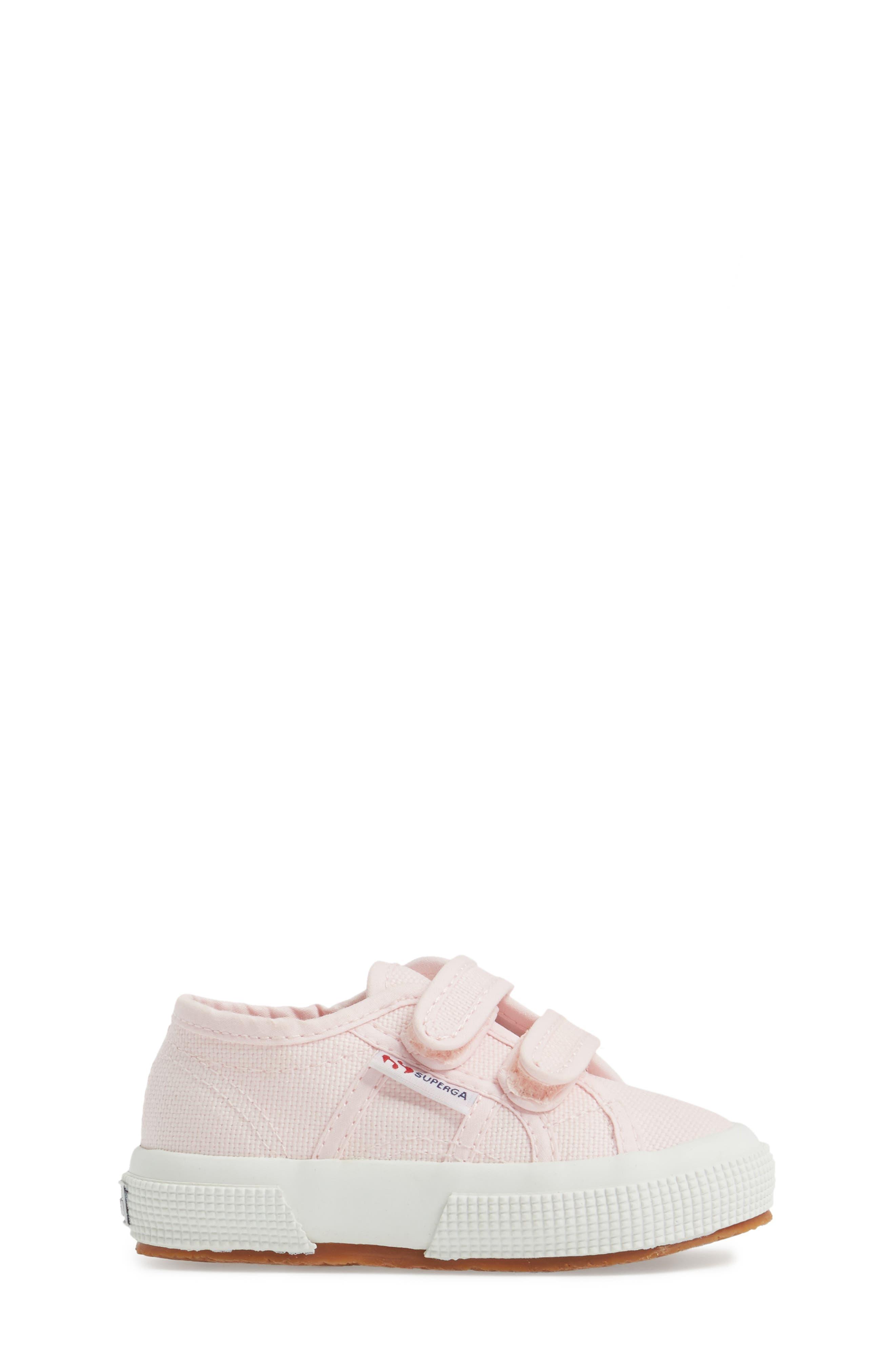 'Junior Classic' Sneaker,                             Alternate thumbnail 3, color,                             Pink