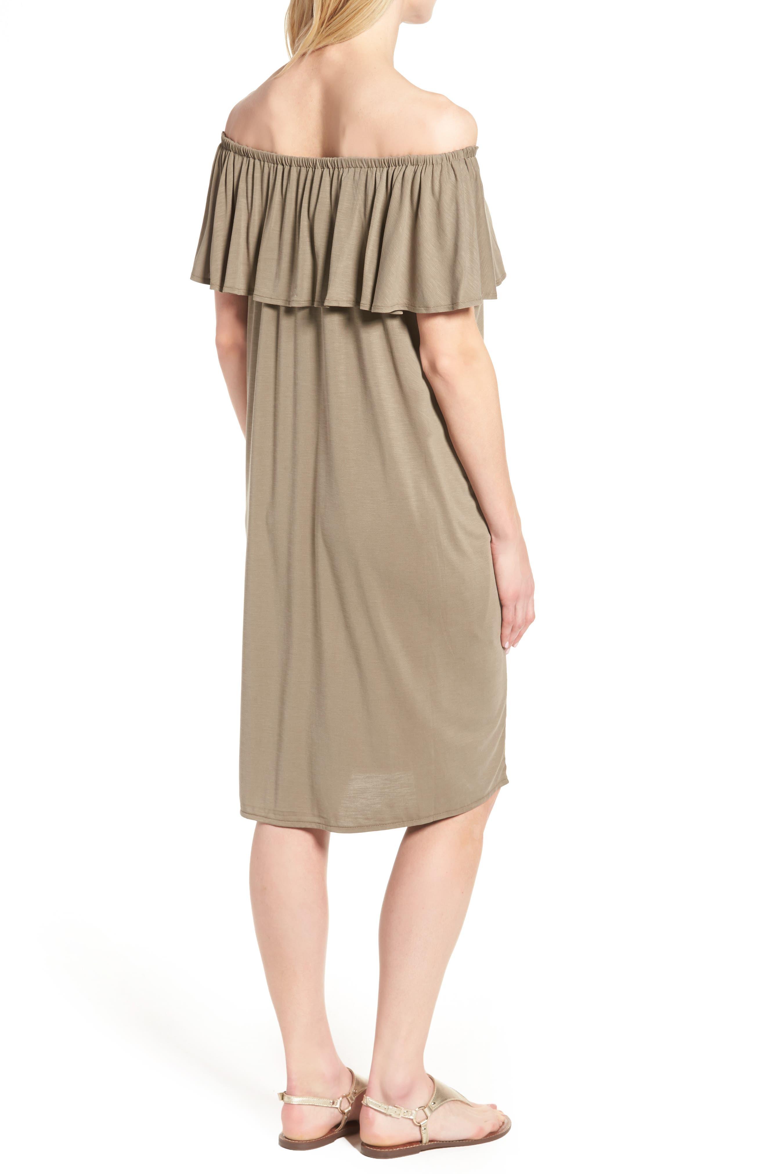 Boardwalk Convertible Jersey Dress,                             Alternate thumbnail 2, color,                             Washed Marshland