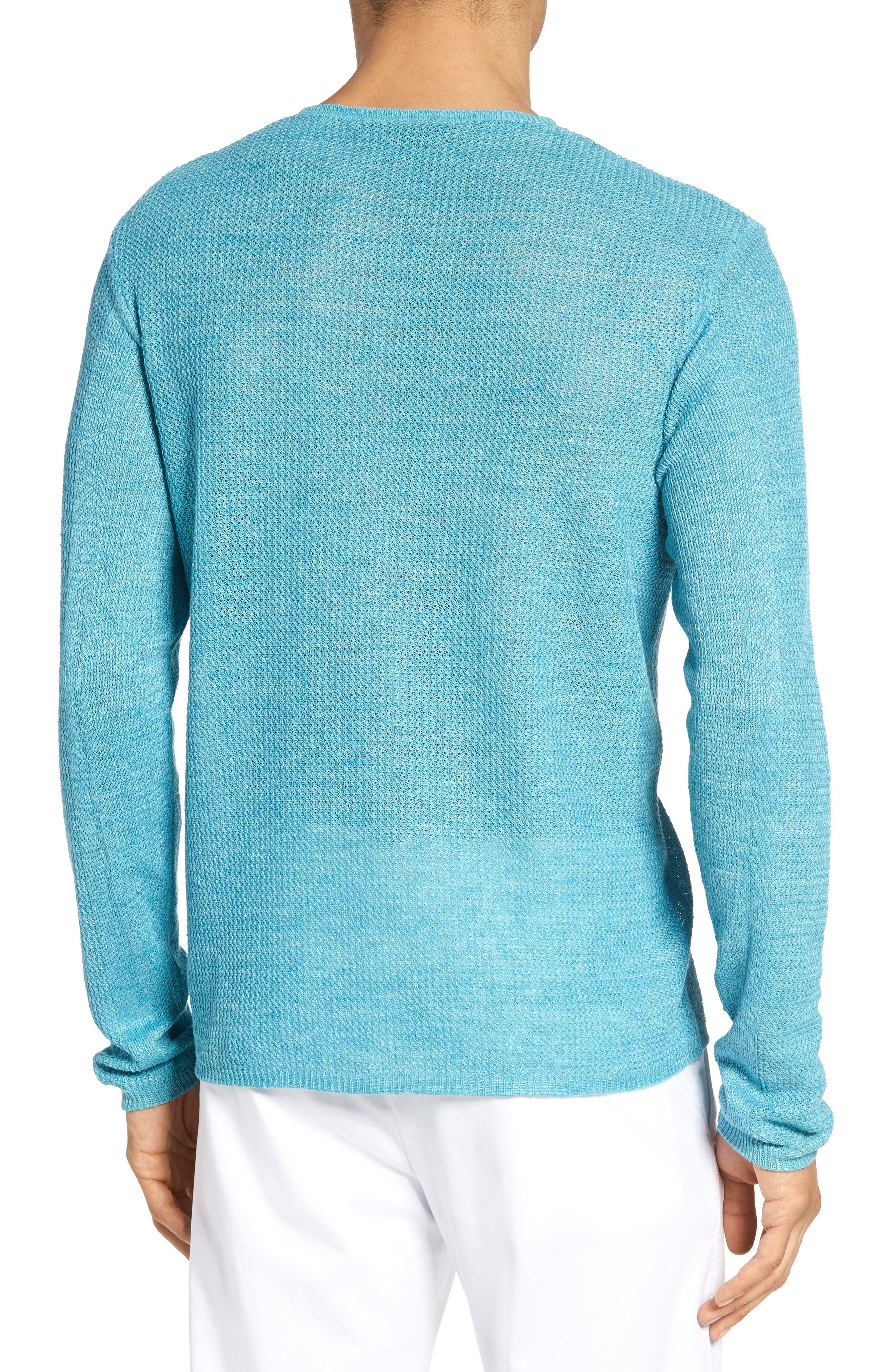 Chapman Linen Sweater,                             Alternate thumbnail 2, color,                             Aqua