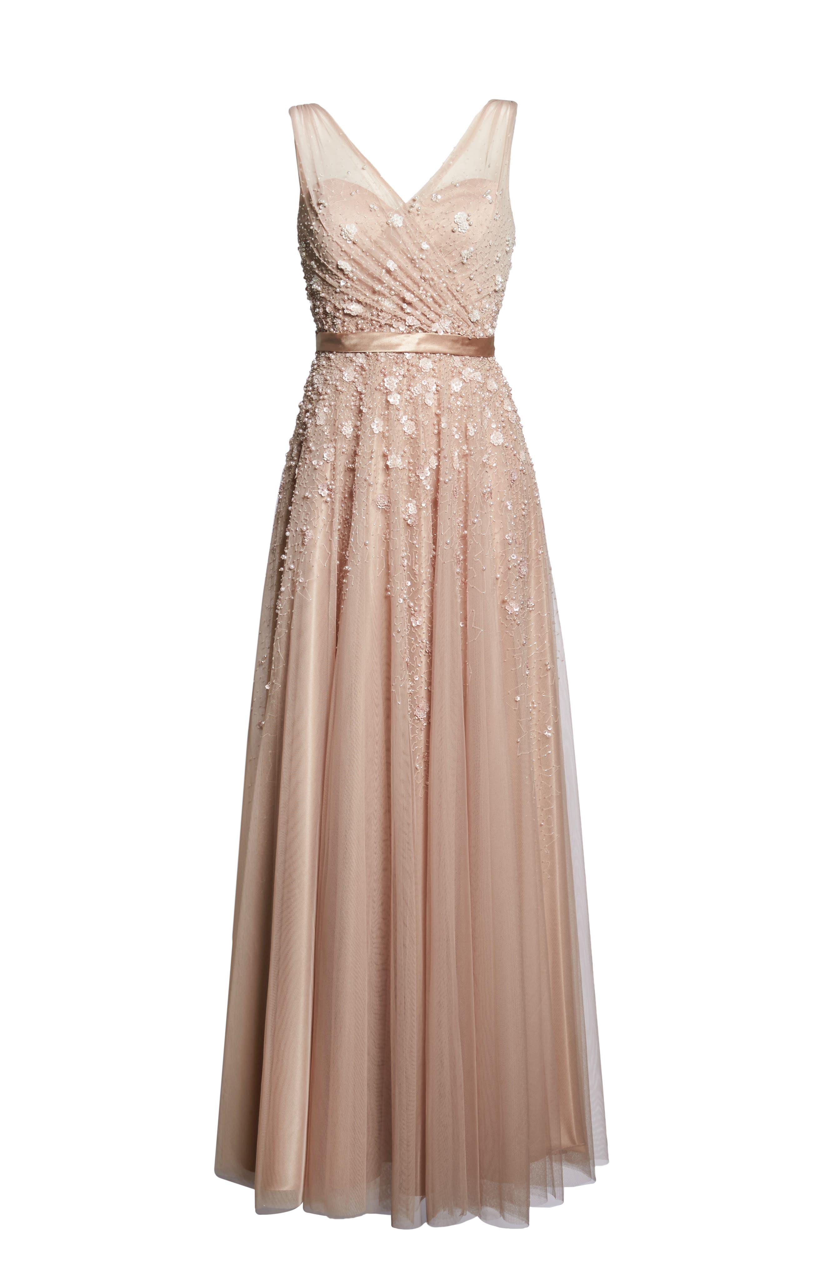 Alternate Image 6  - Mac Duggal Embellished Mesh Gown