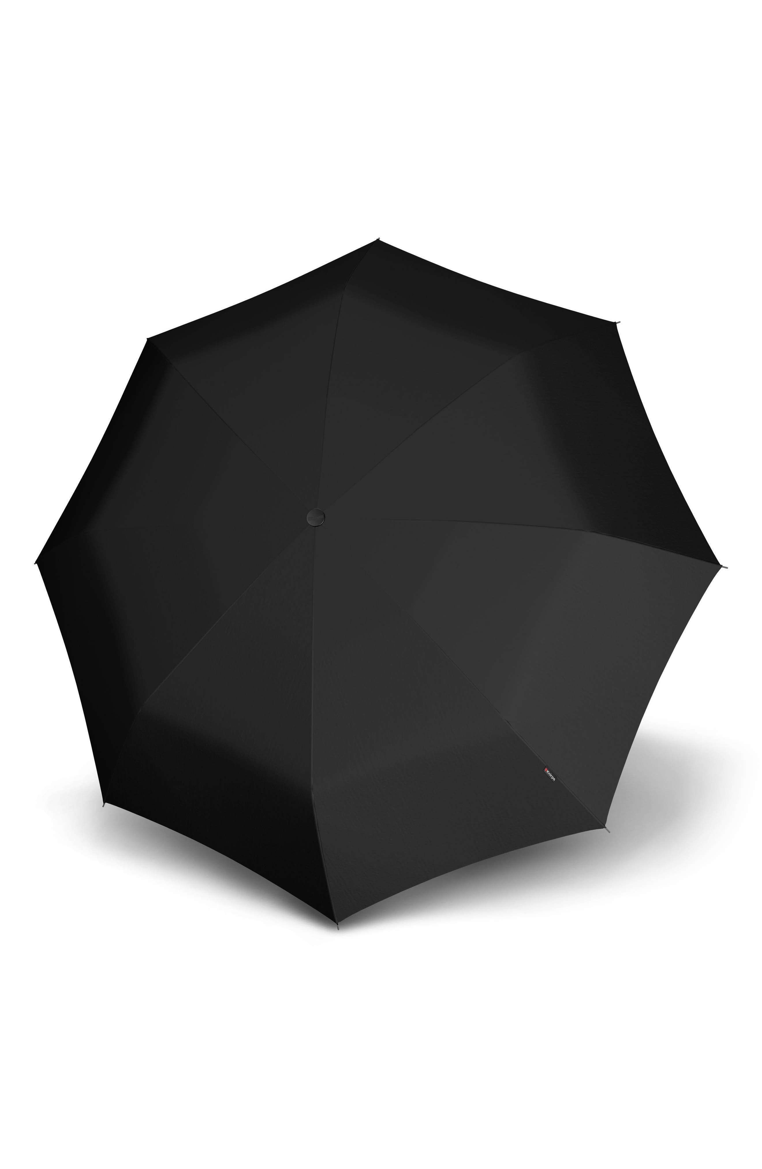 T2 Duomatic Compact Auto Open/Close Umbrella,                             Main thumbnail 1, color,                             Black