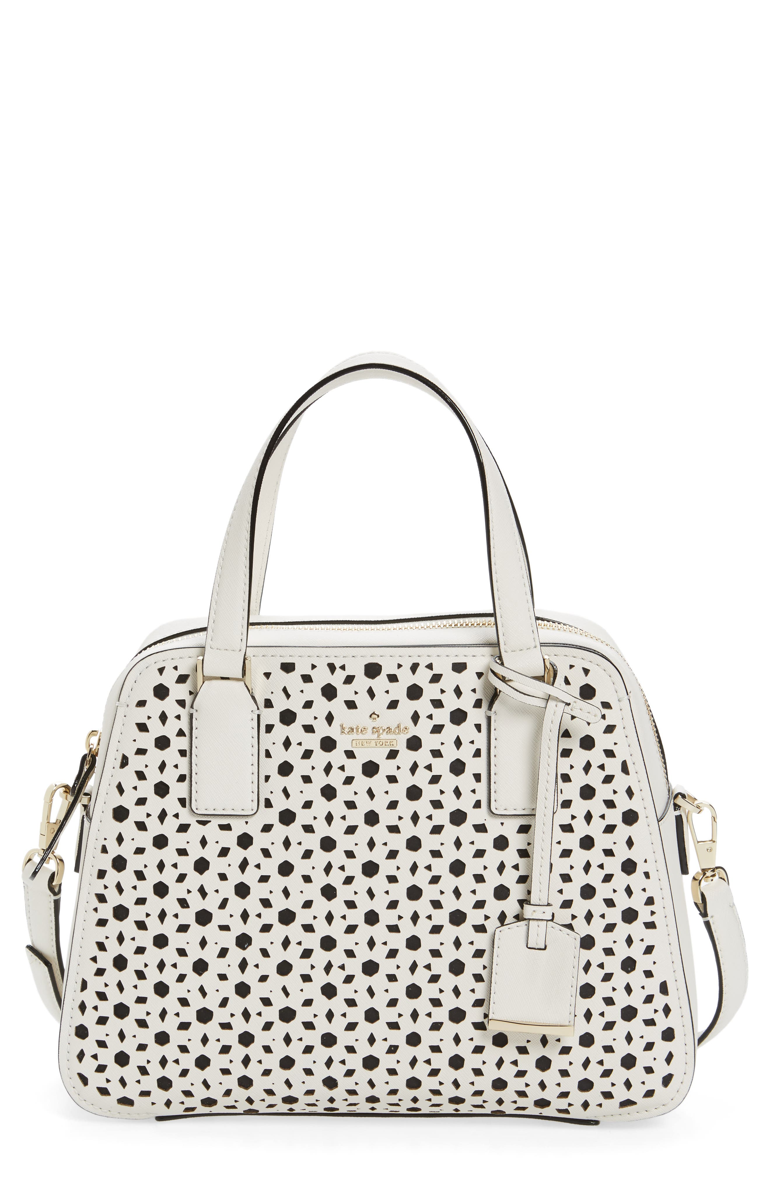 Alternate Image 1 Selected - kate spade new york cameron street perforated little babe leather satchel