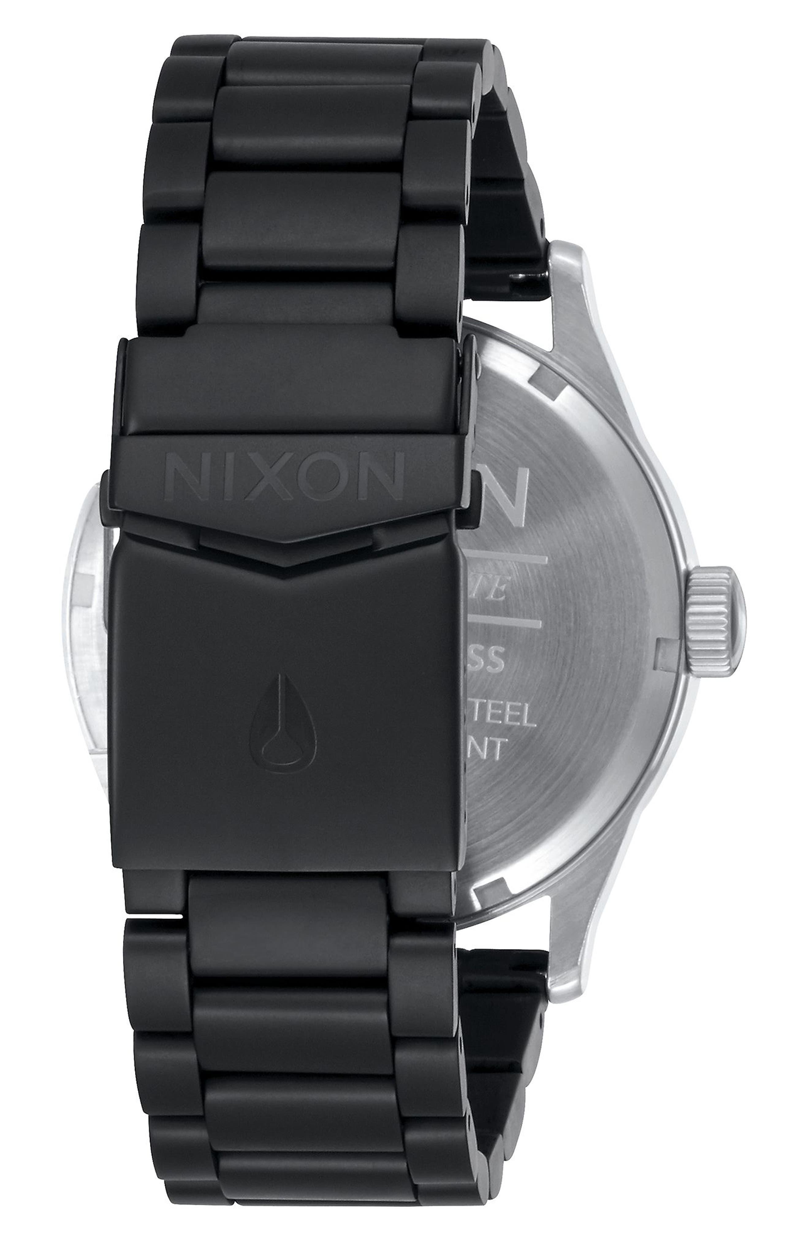 Sentry Bracelet Watch, 42mm,                             Alternate thumbnail 2, color,                             Black/ Silver