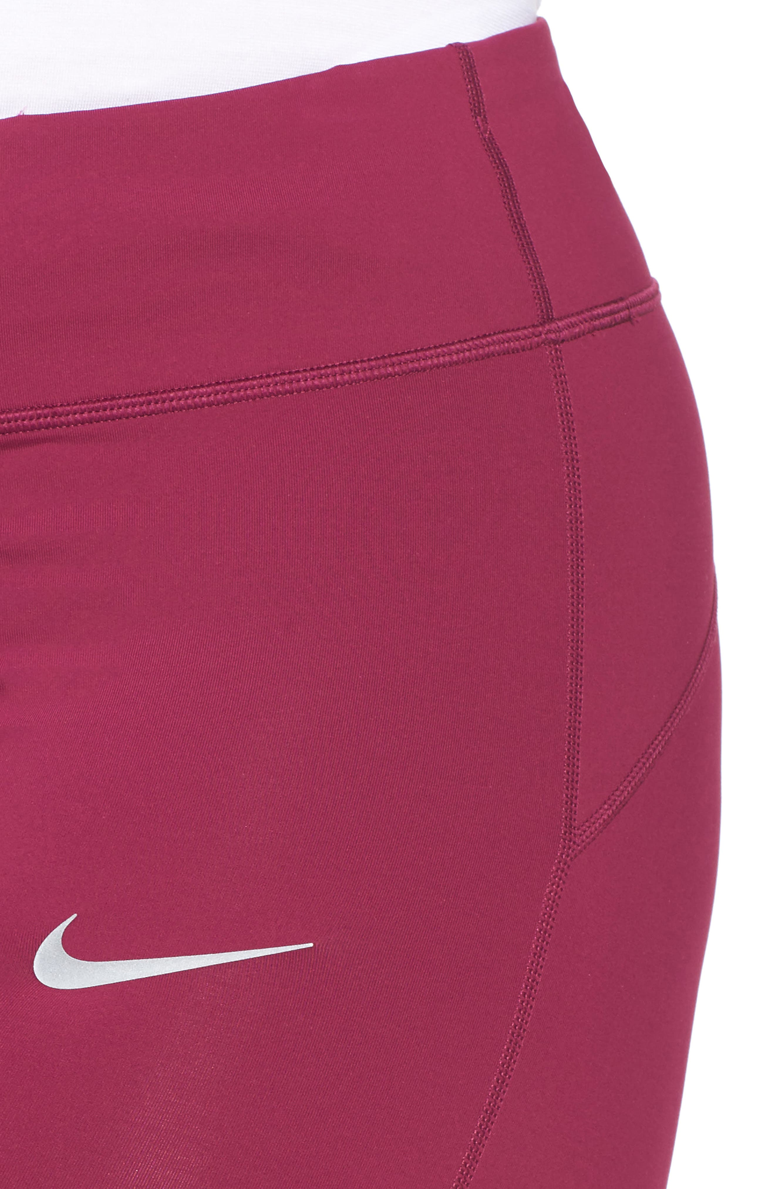 Power Epic Crop Run Tights,                             Alternate thumbnail 4, color,                             True Berry