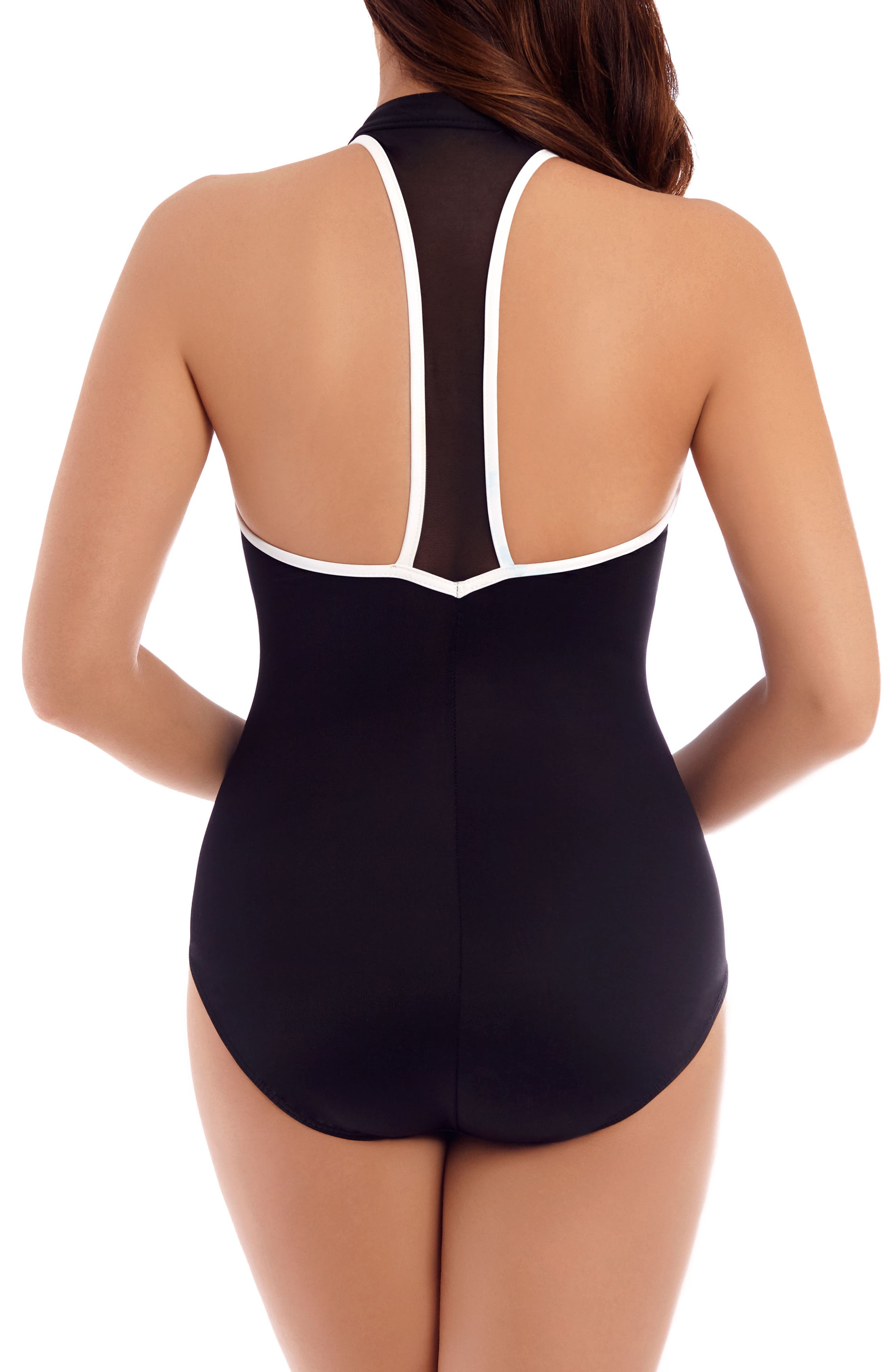 Alternate Image 2  - Miraclesuit® Finish Line One-Piece Swimsuit