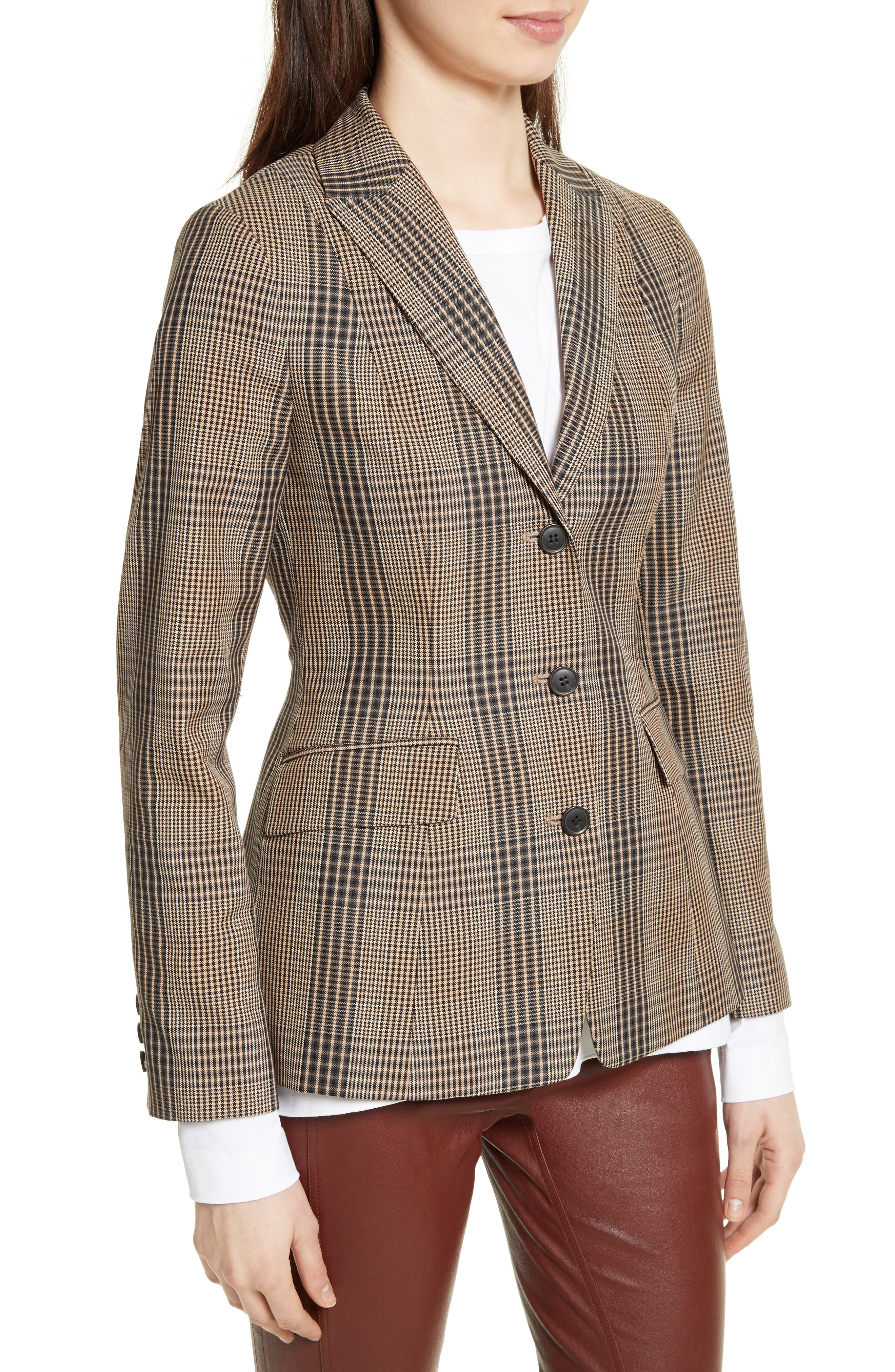 Alternate Image 3  - Theory Faringdon Check Riding Jacket