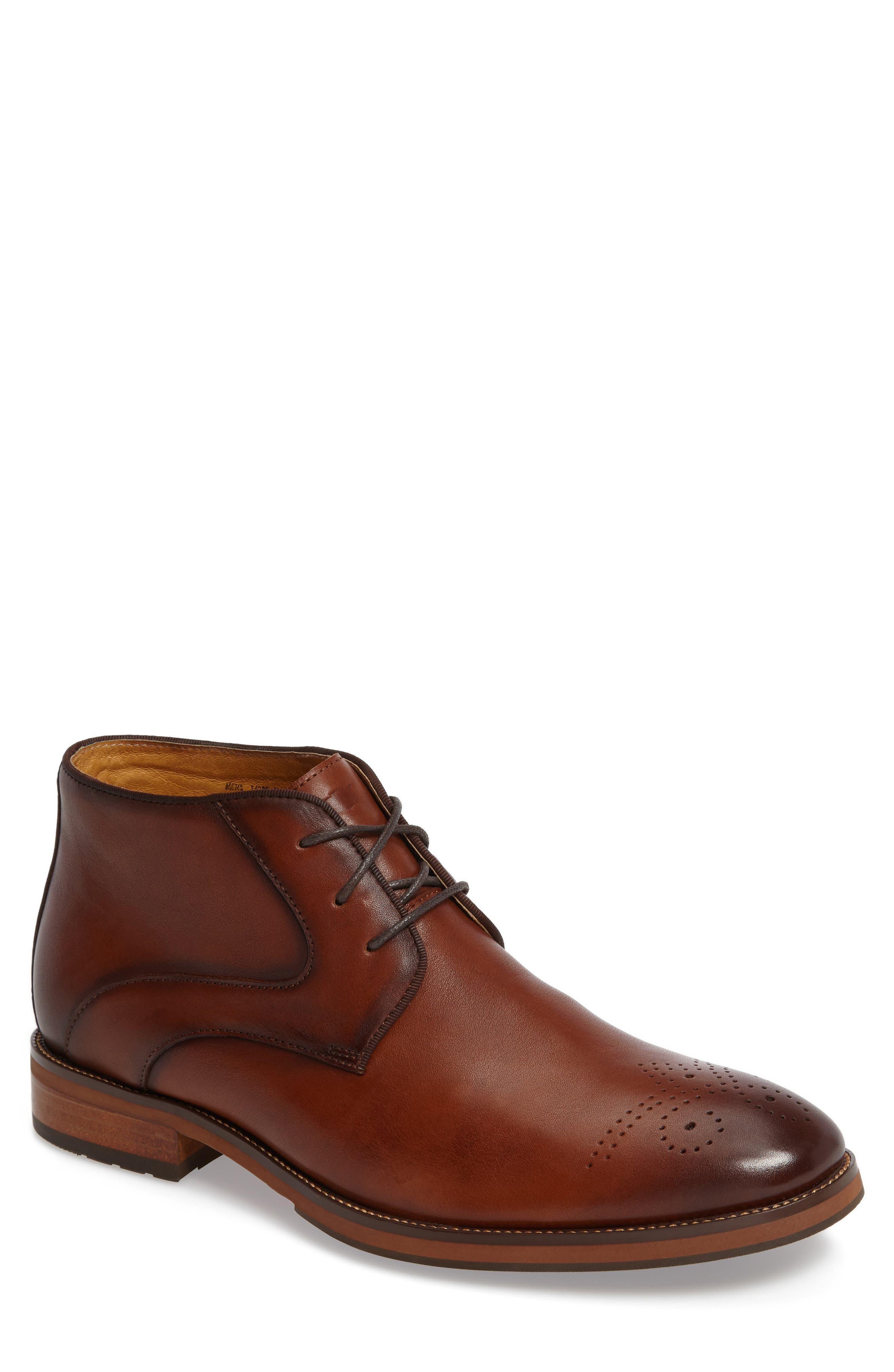 Blaze Chukka Boot,                             Main thumbnail 1, color,                             Cognac Leather