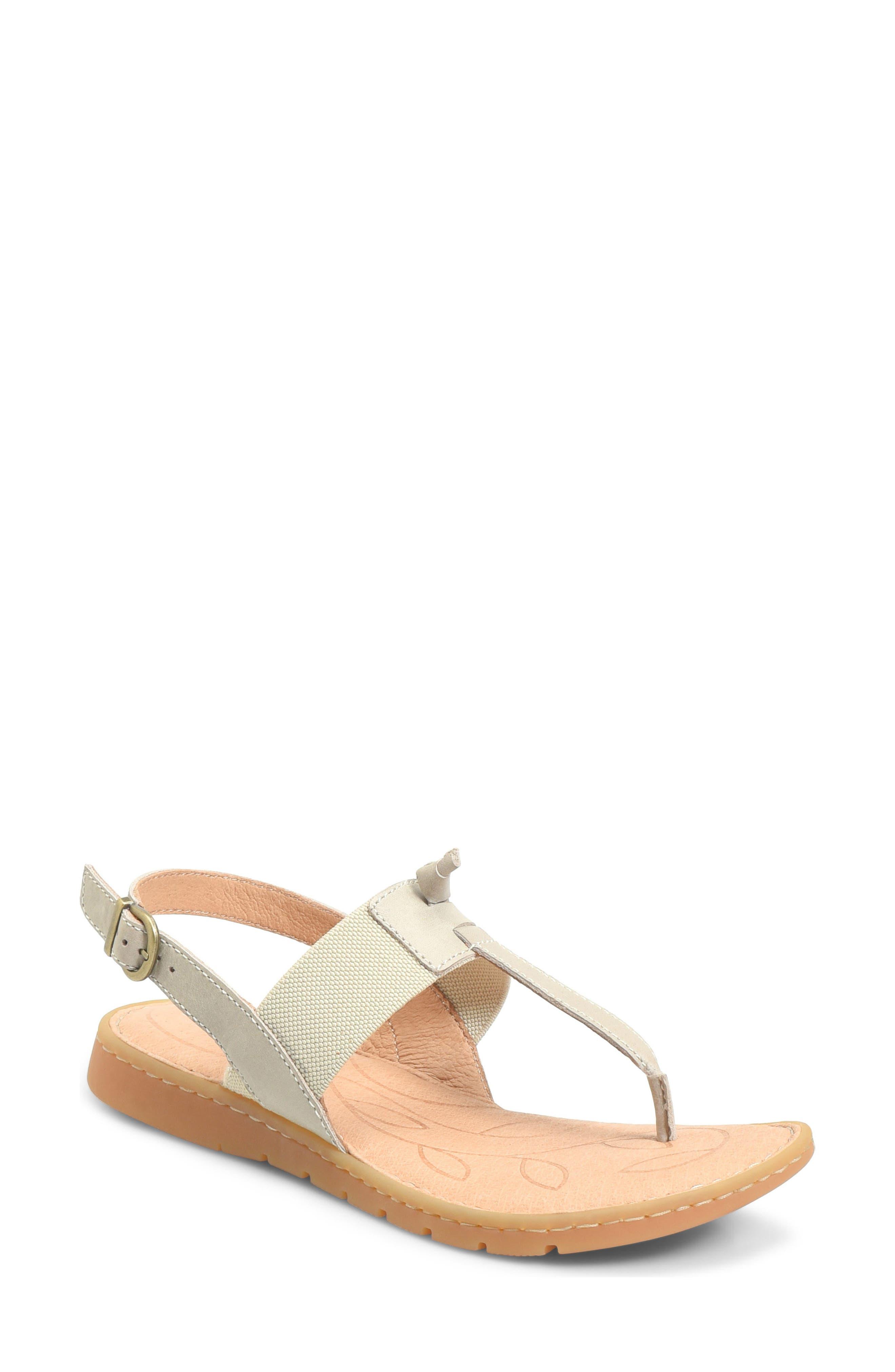 Siri Sandal,                         Main,                         color, Cream Leather