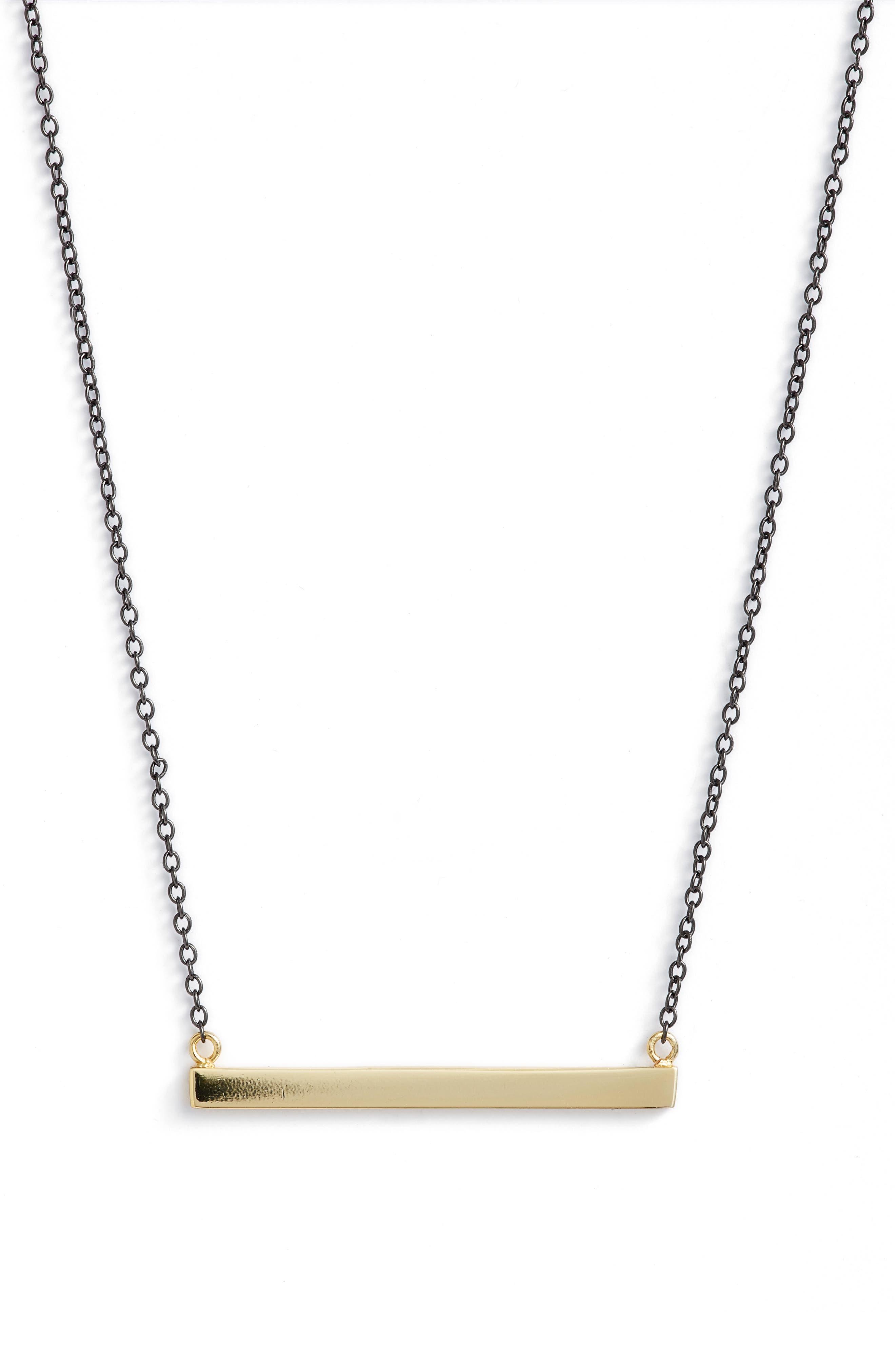 Alternate Image 1 Selected - Argento Vivo Bar Pendant Necklace