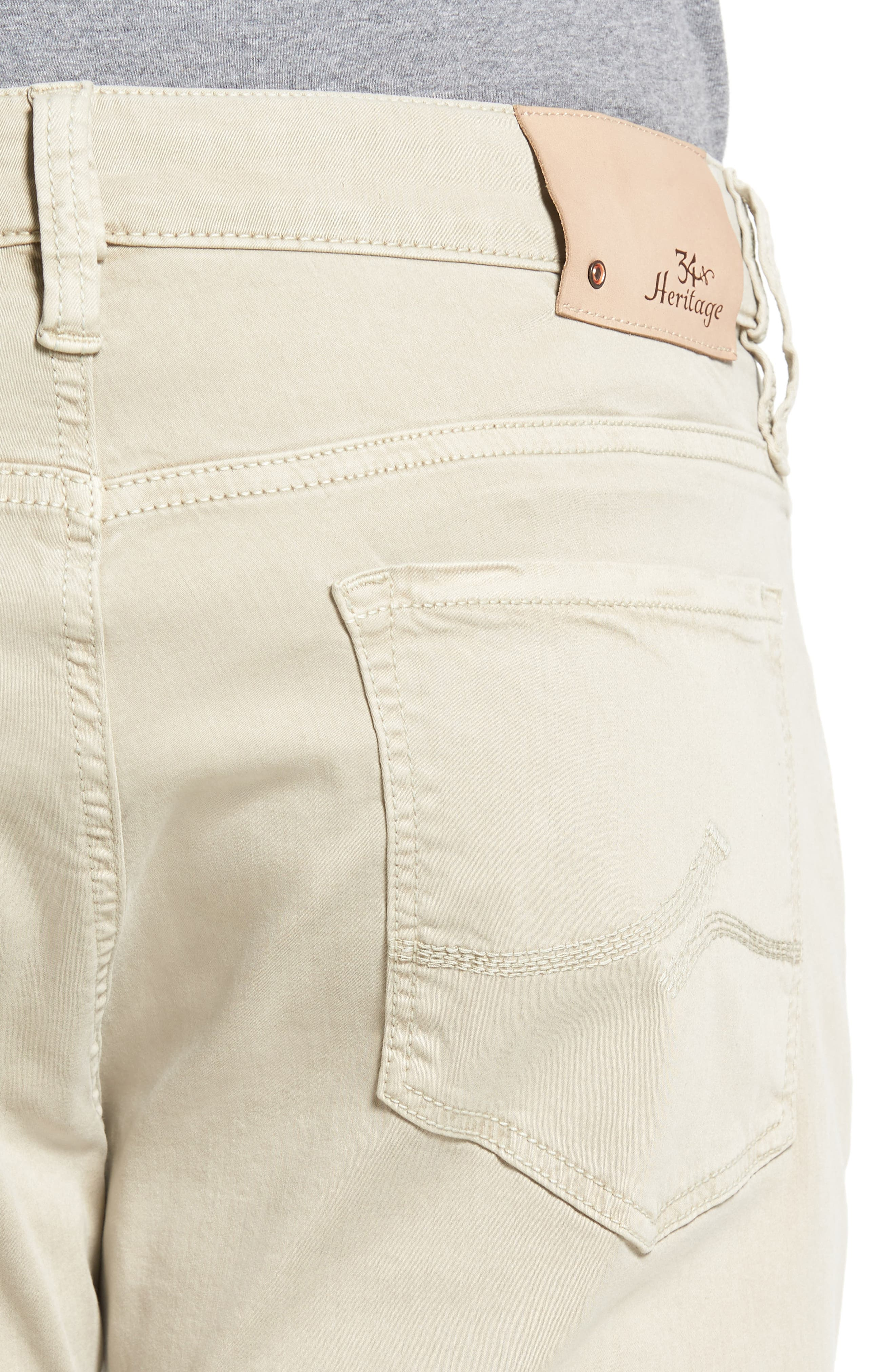 Courage Straight Leg Jeans,                             Alternate thumbnail 4, color,                             Stone Twill