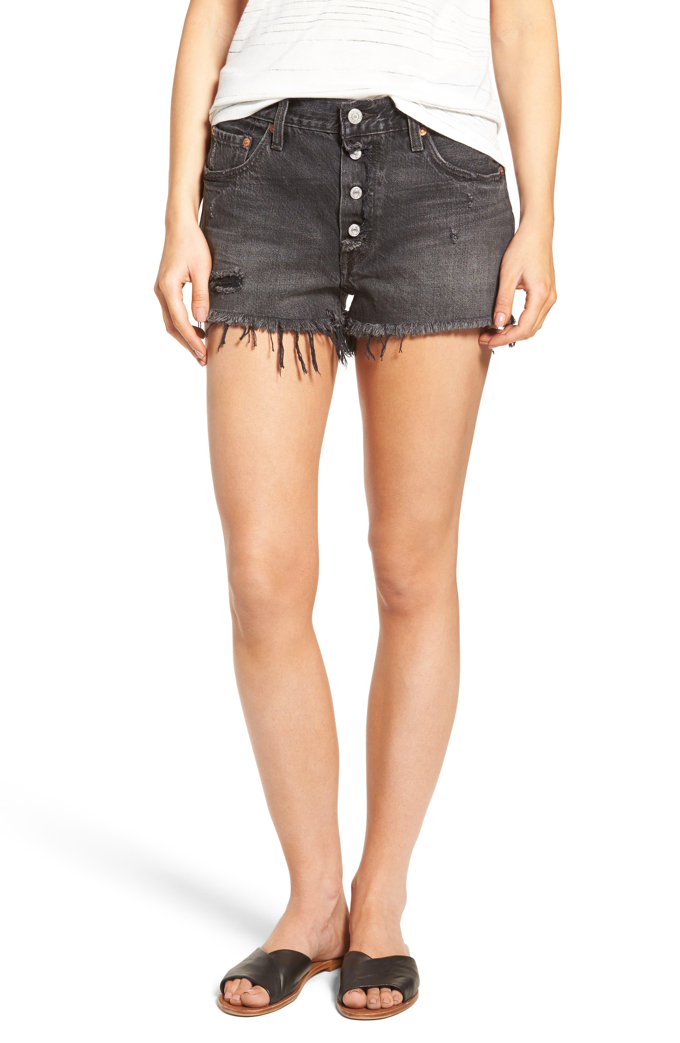 Alternate Image 1 Selected - Levi's® 501® Cutoff Denim Shorts