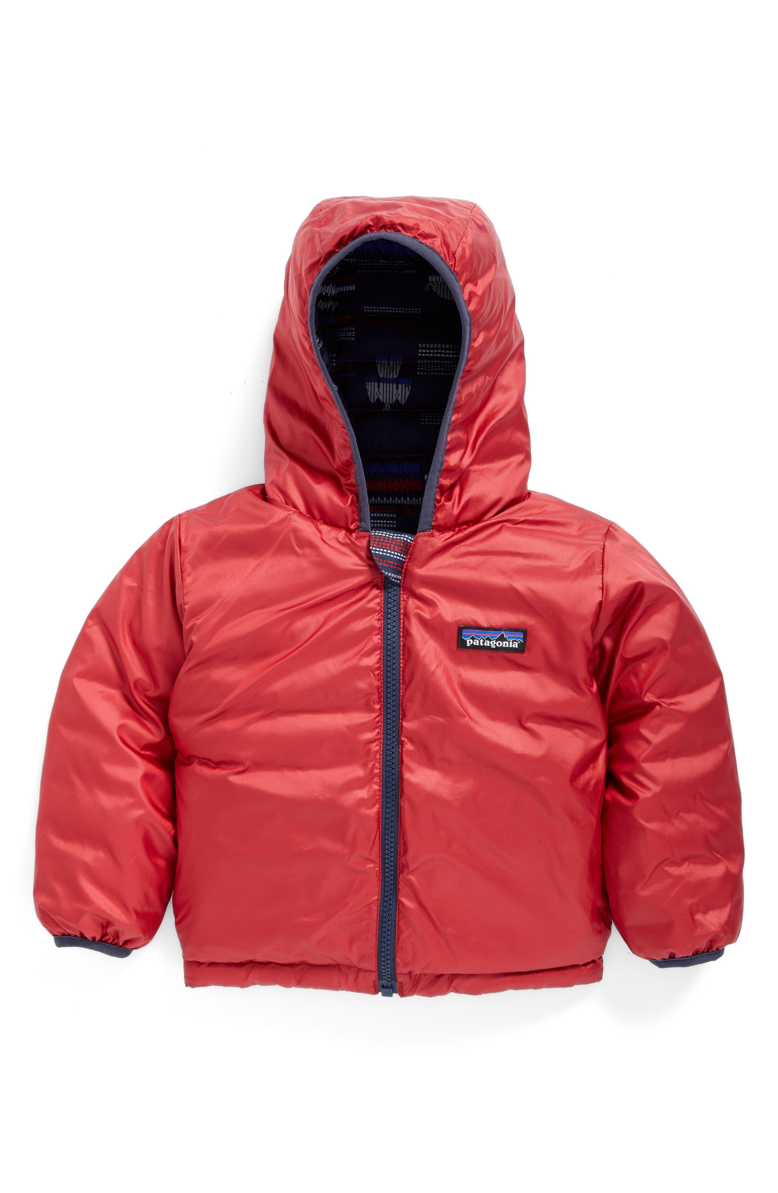 Alternate Image 2  - Patagonia Reversible Down Sweater Hoodie (Baby Boys)