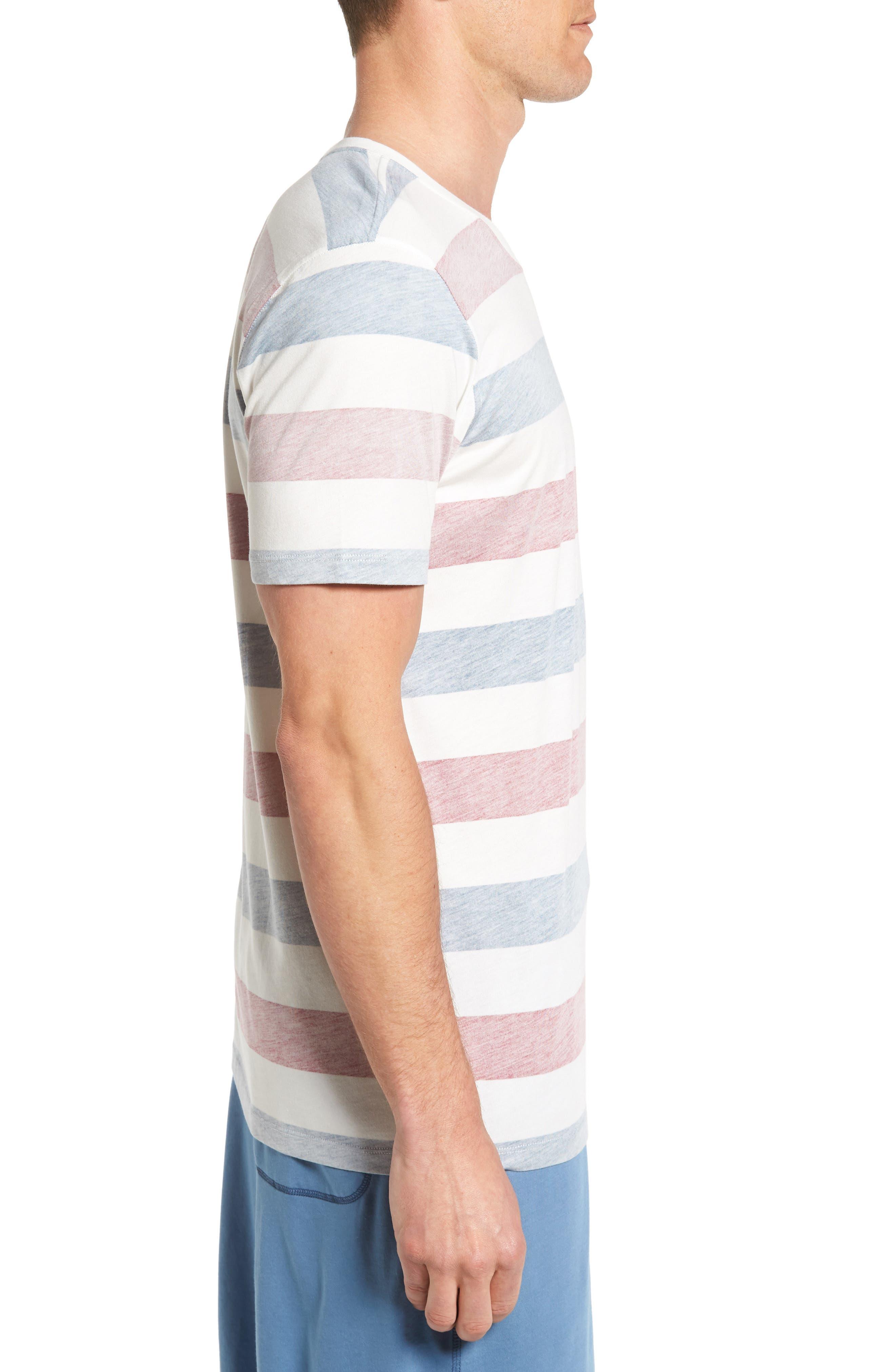 Alternate Image 3  - Daniel Buchler Reverse Stripe Pima Cotton & Modal Crewneck T-Shirt