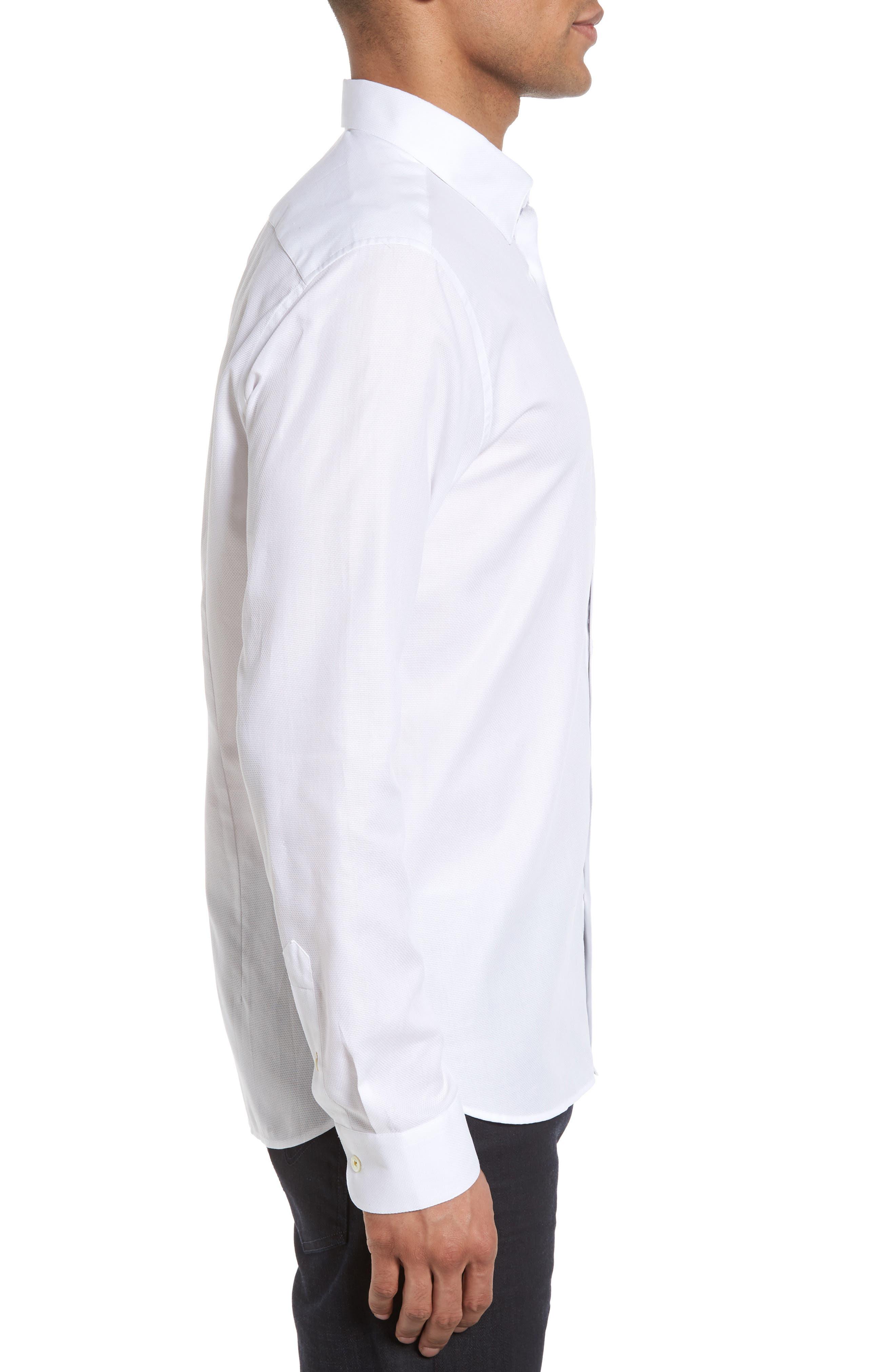 Alternate Image 3  - Ted Baker London Nordlux Modern Slim Fit Stretch Cotton Sport Shirt