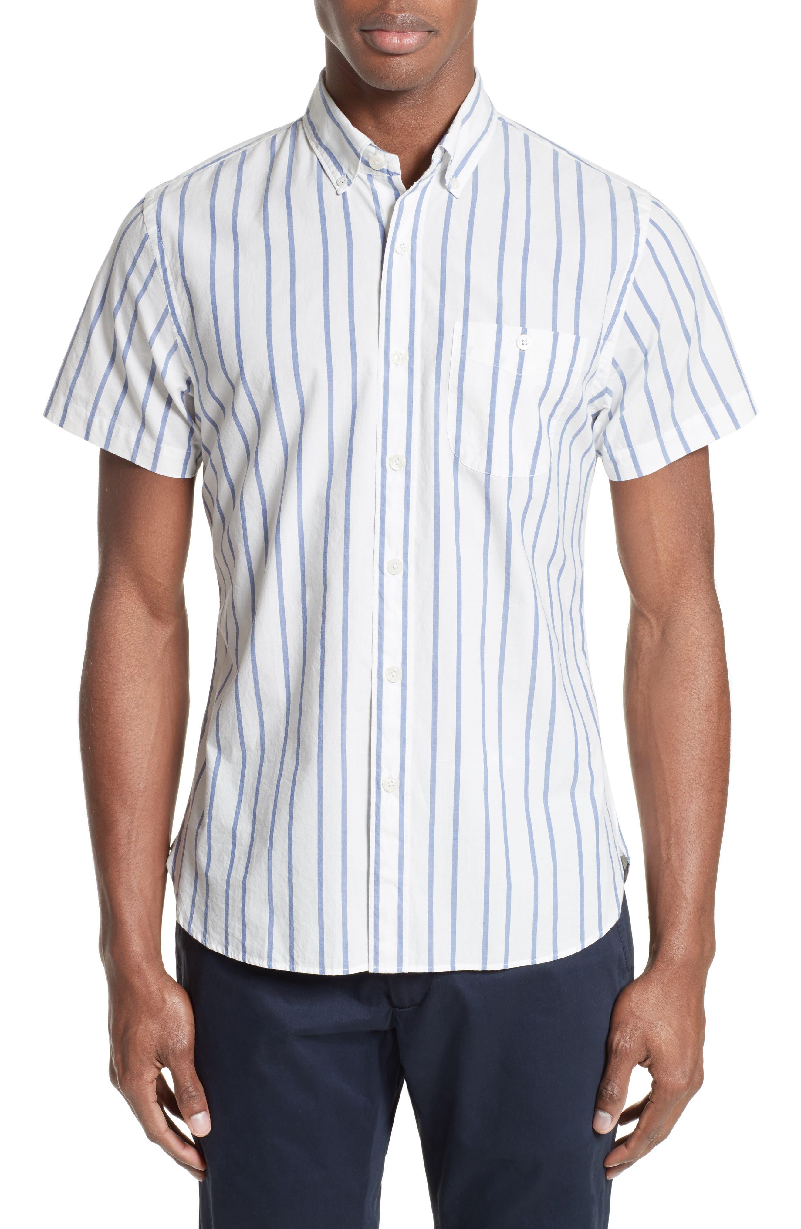 Main Image - Todd Snyder Trim Fit Stripe Sport Shirt