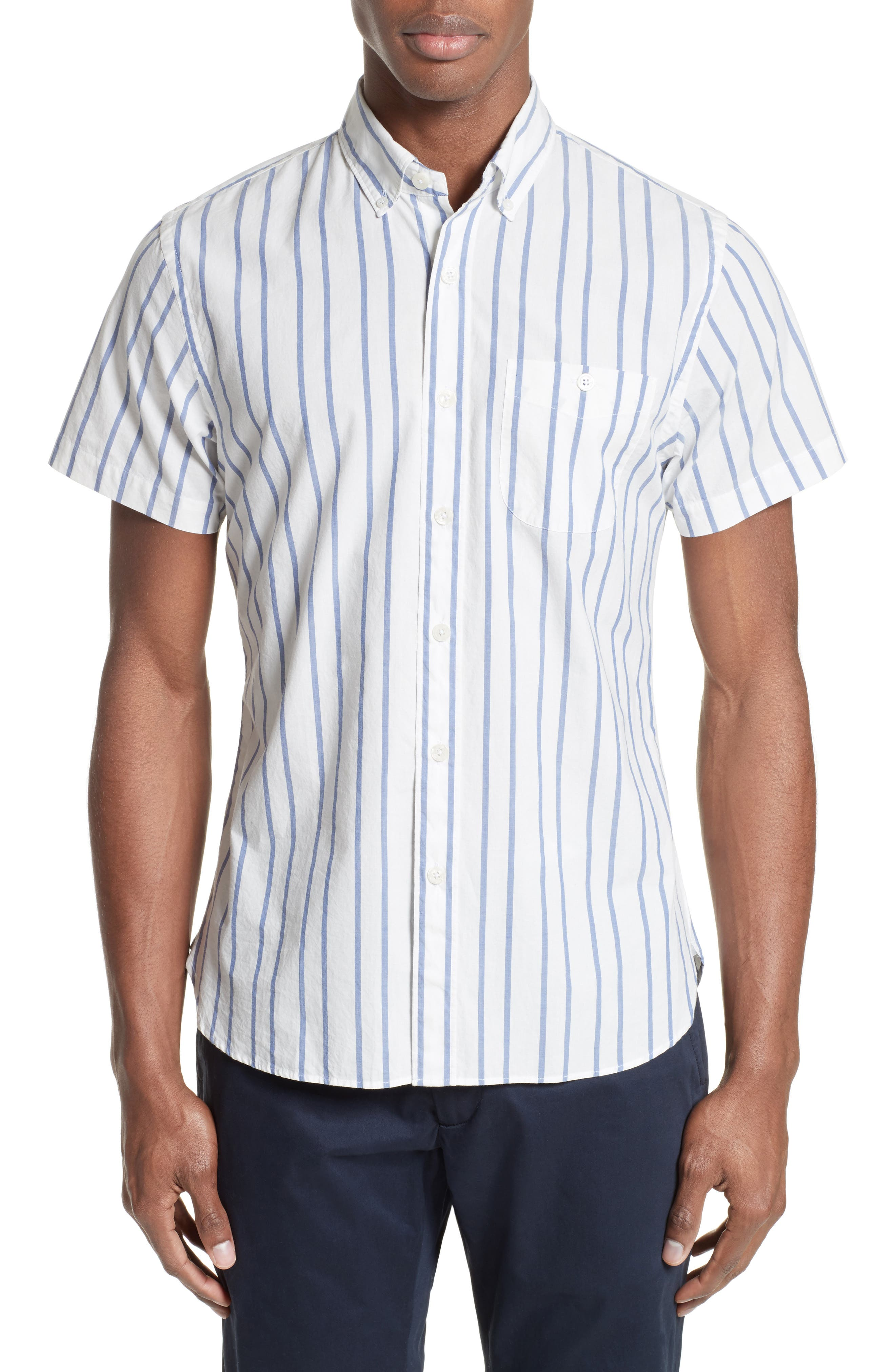 Todd Snyder Trim Fit Stripe Sport Shirt