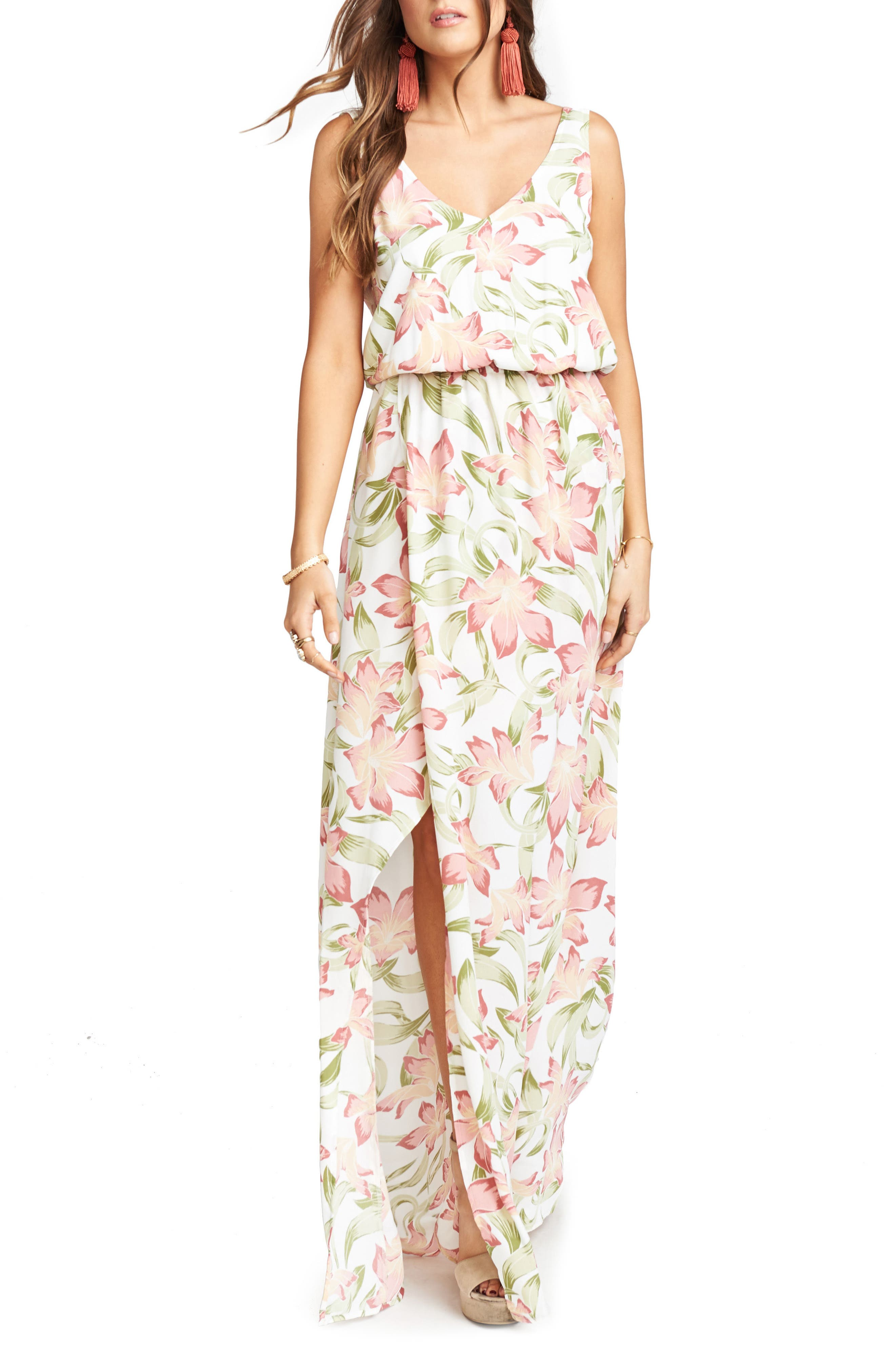 Kendall Maxi Dress,                         Main,                         color, Lily Lady Crepe