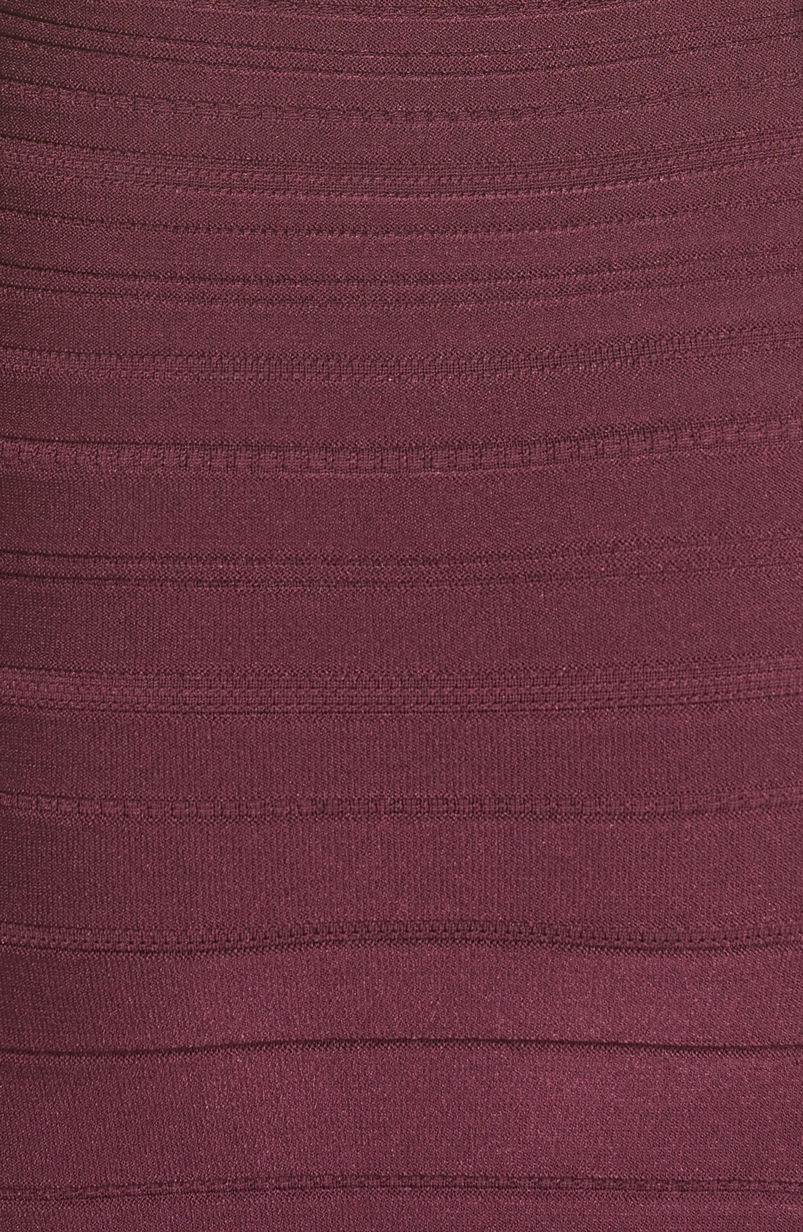 Knit High Neck Dress,                             Alternate thumbnail 3, color,                             Currant