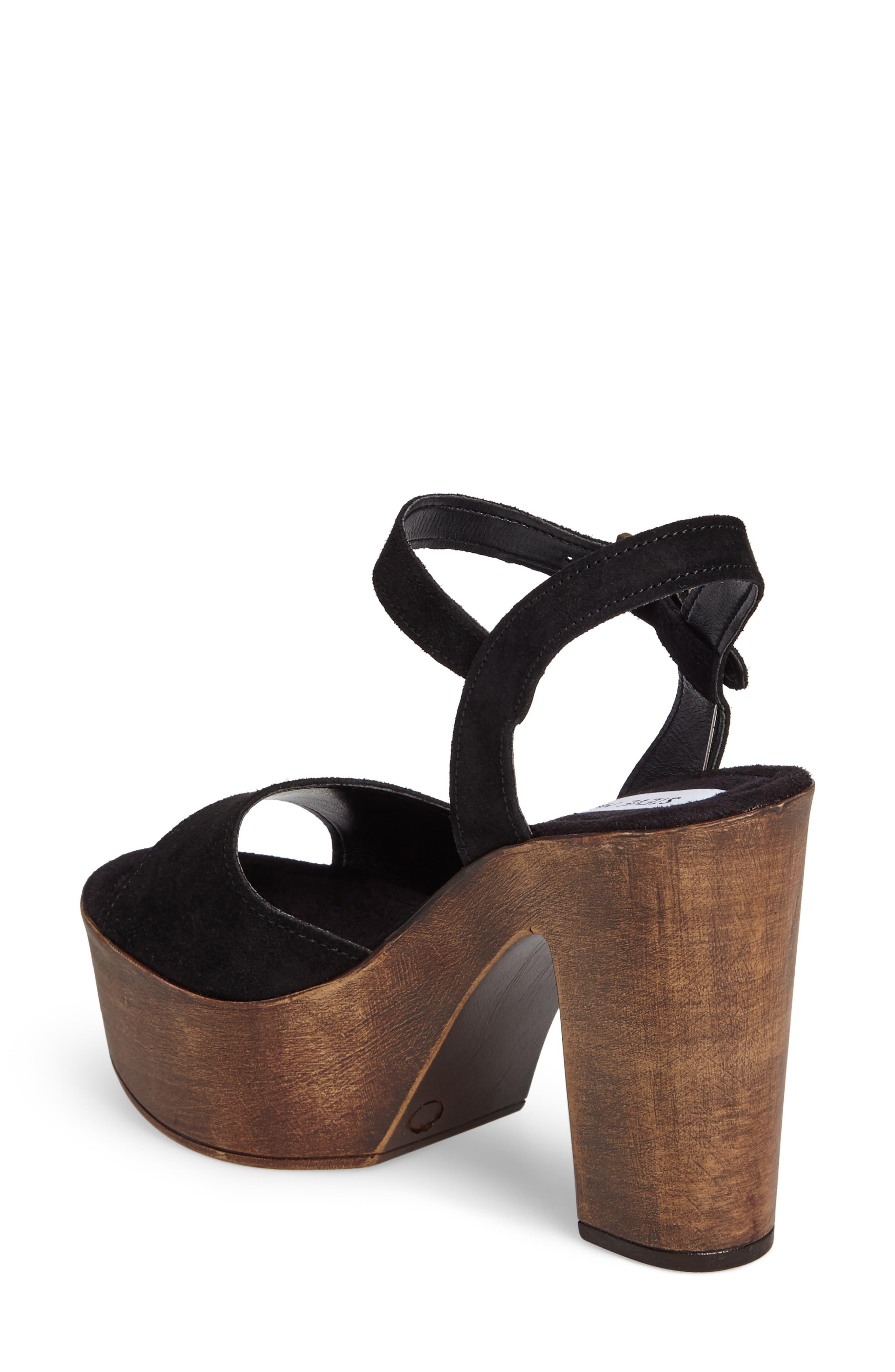 Lulla Platform Sandal,                             Alternate thumbnail 2, color,                             Black Suede
