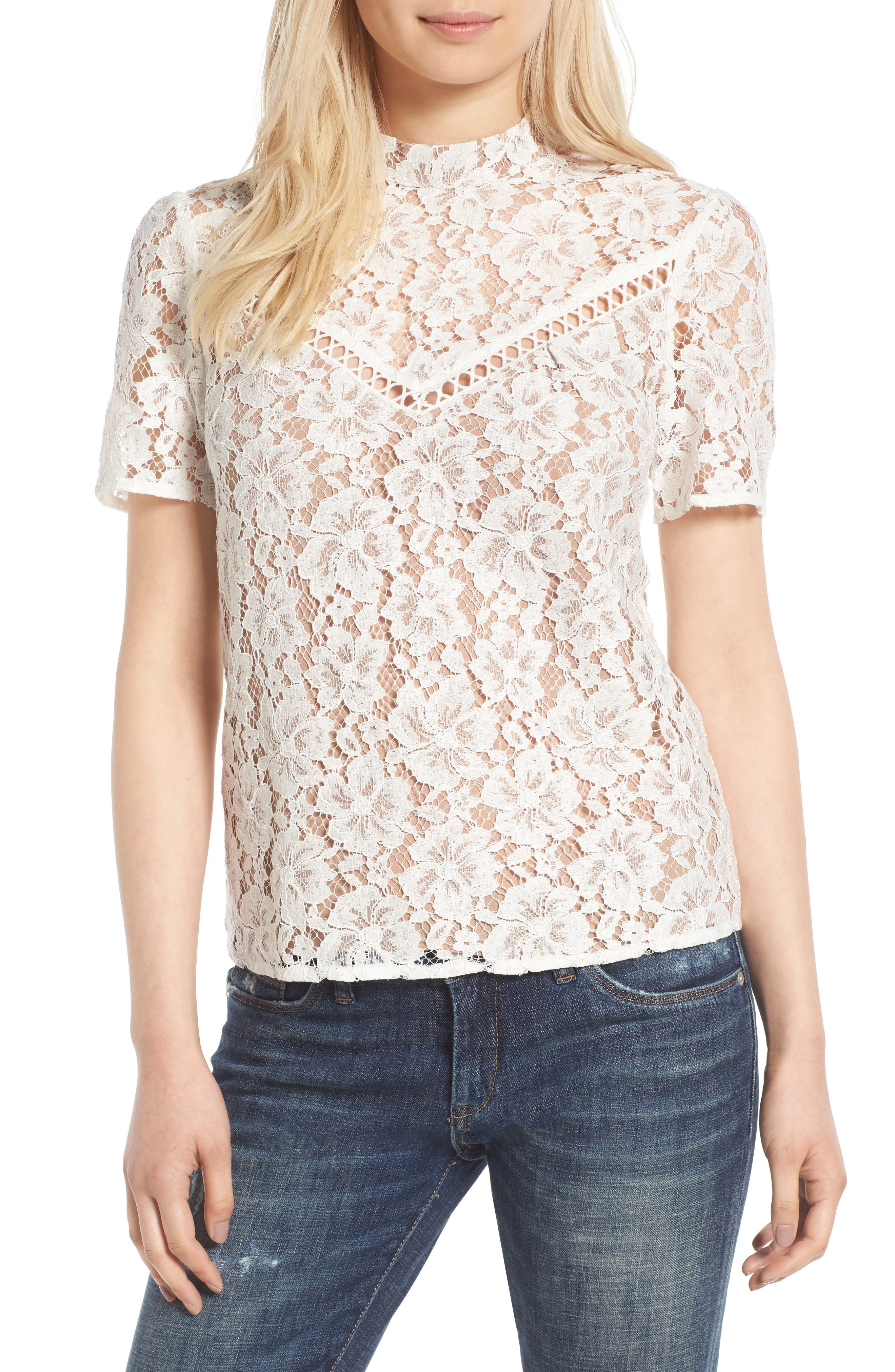 Alternate Image 1 Selected - WAYF Greyson Lace Top