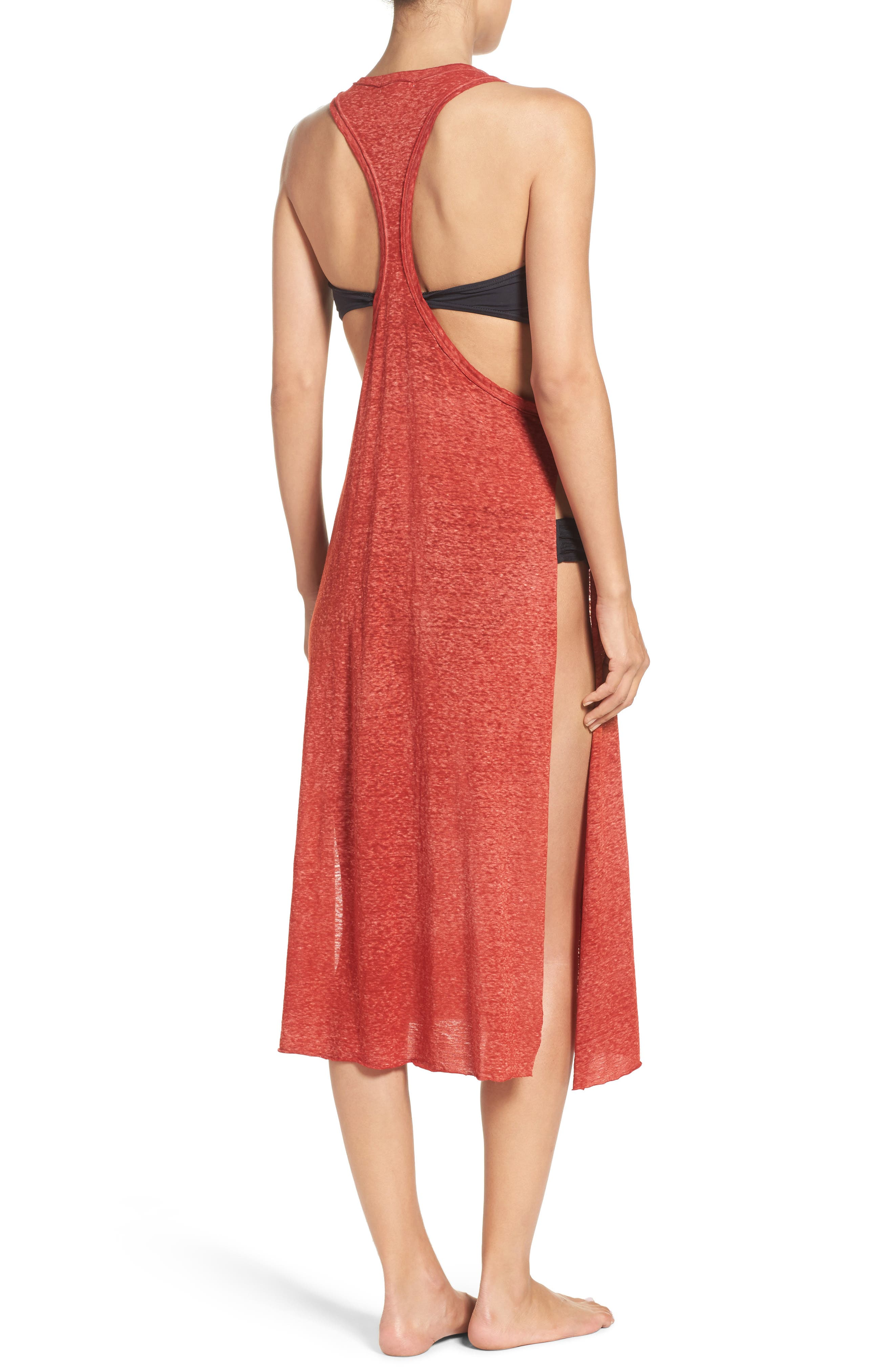 Alternate Image 2  - Leith Burnout Jersey Cover-Up Dress