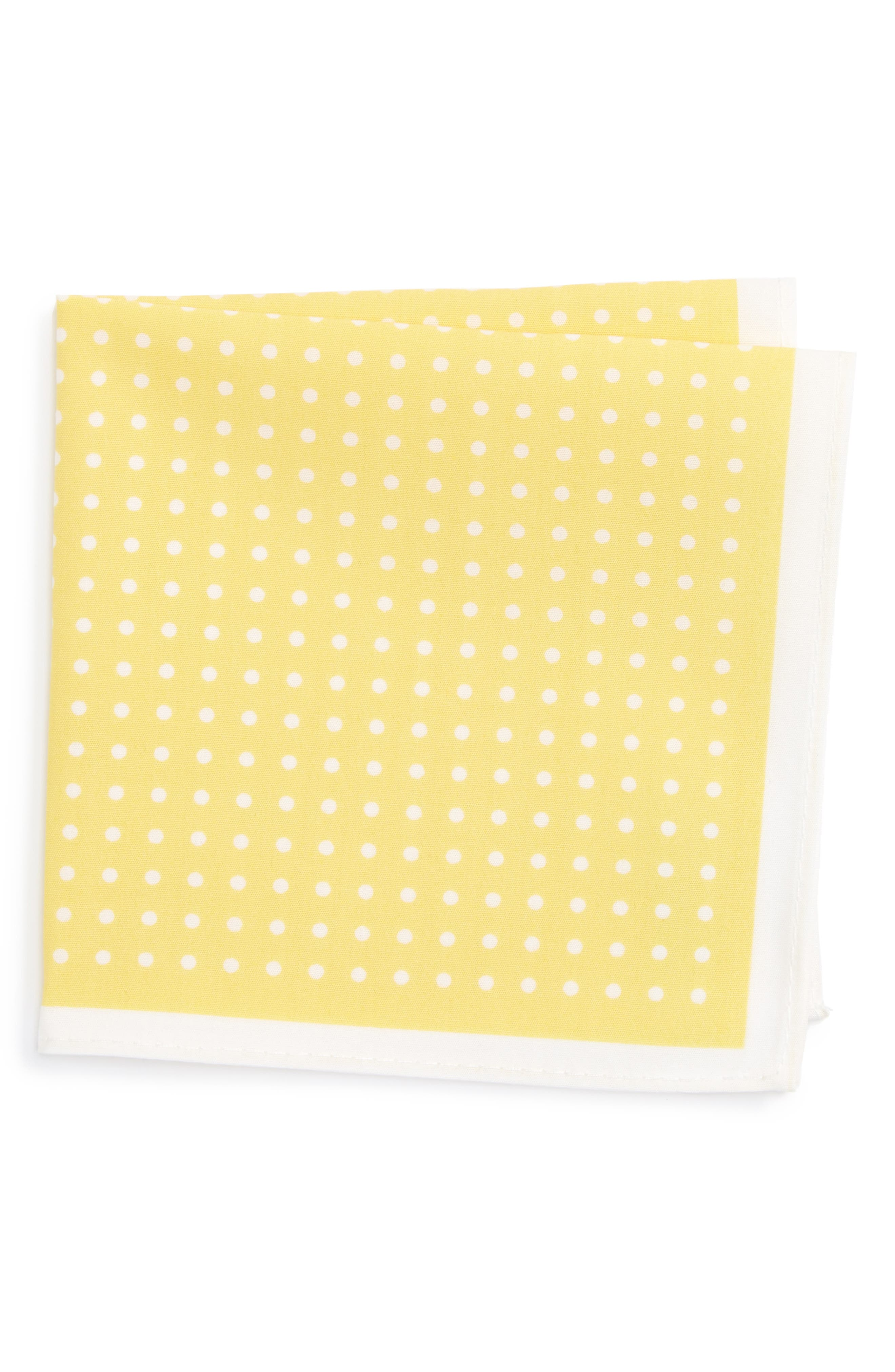 NORDSTROM Dot Cotton Pocket Square
