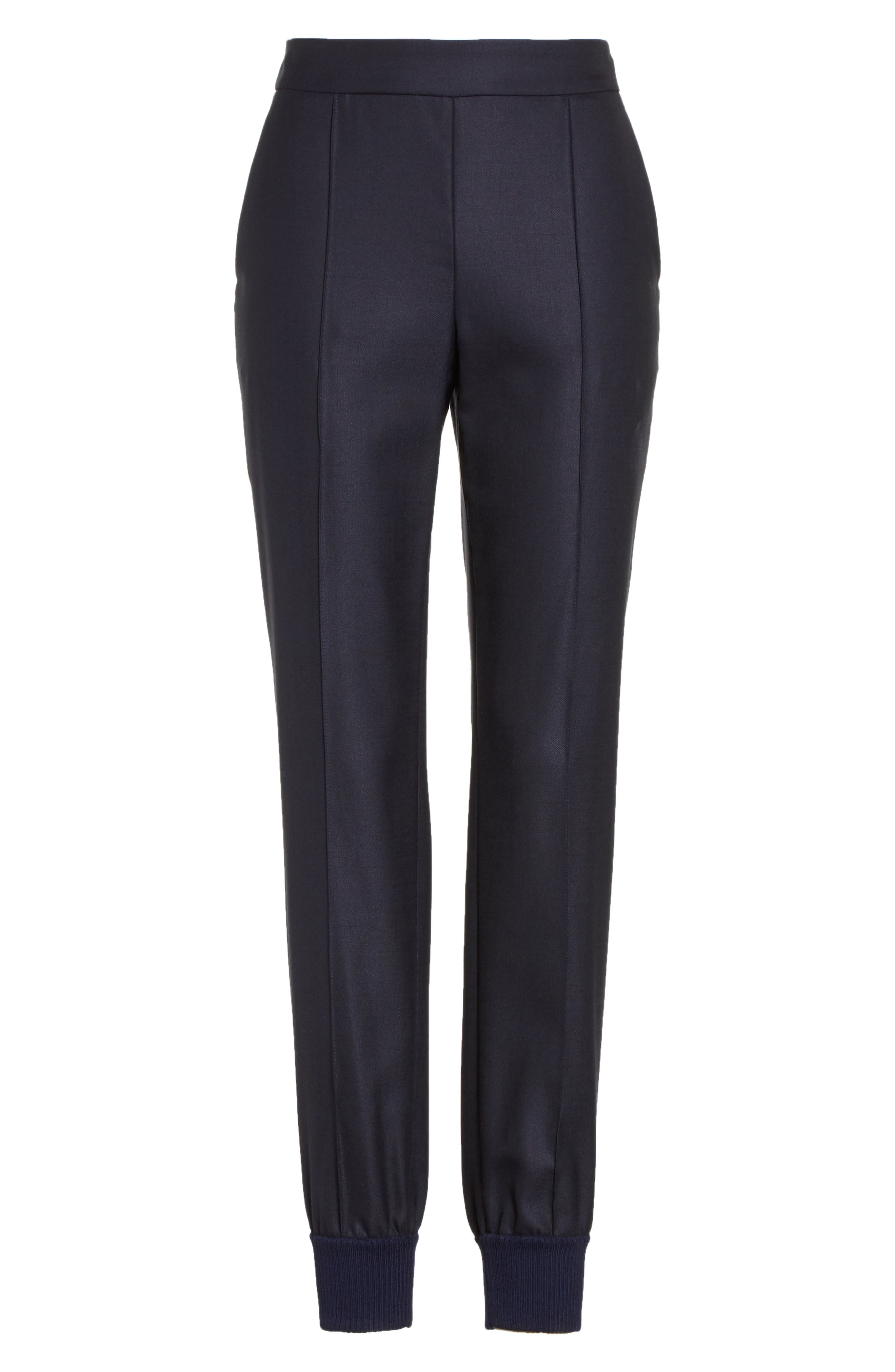 Alternate Image 6  - St. John Collection Stretch Birdseye Skinny Pants