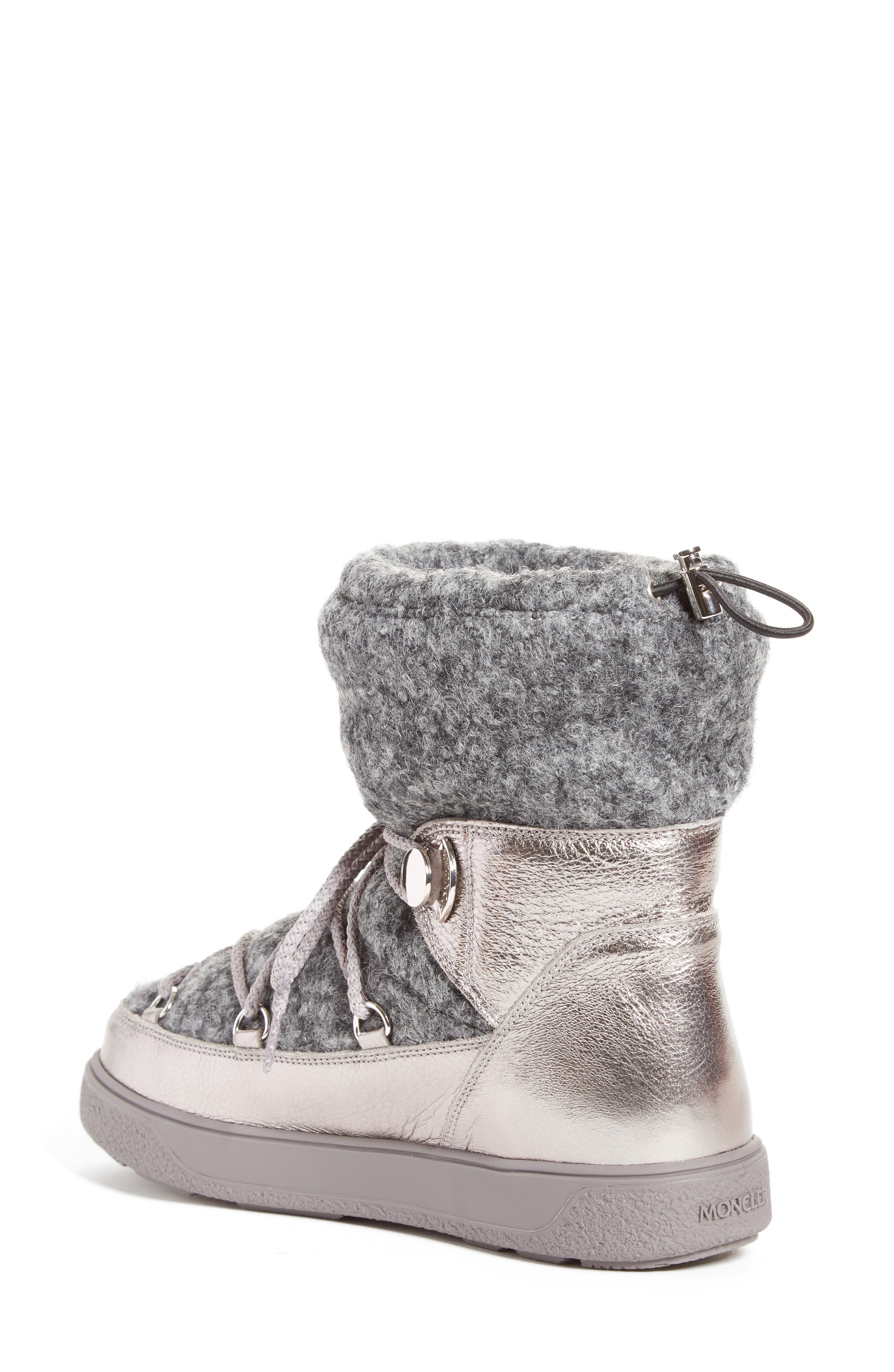 Ynnaf Boiled Wool Lined Snow Boot,                             Alternate thumbnail 2, color,                             Silver