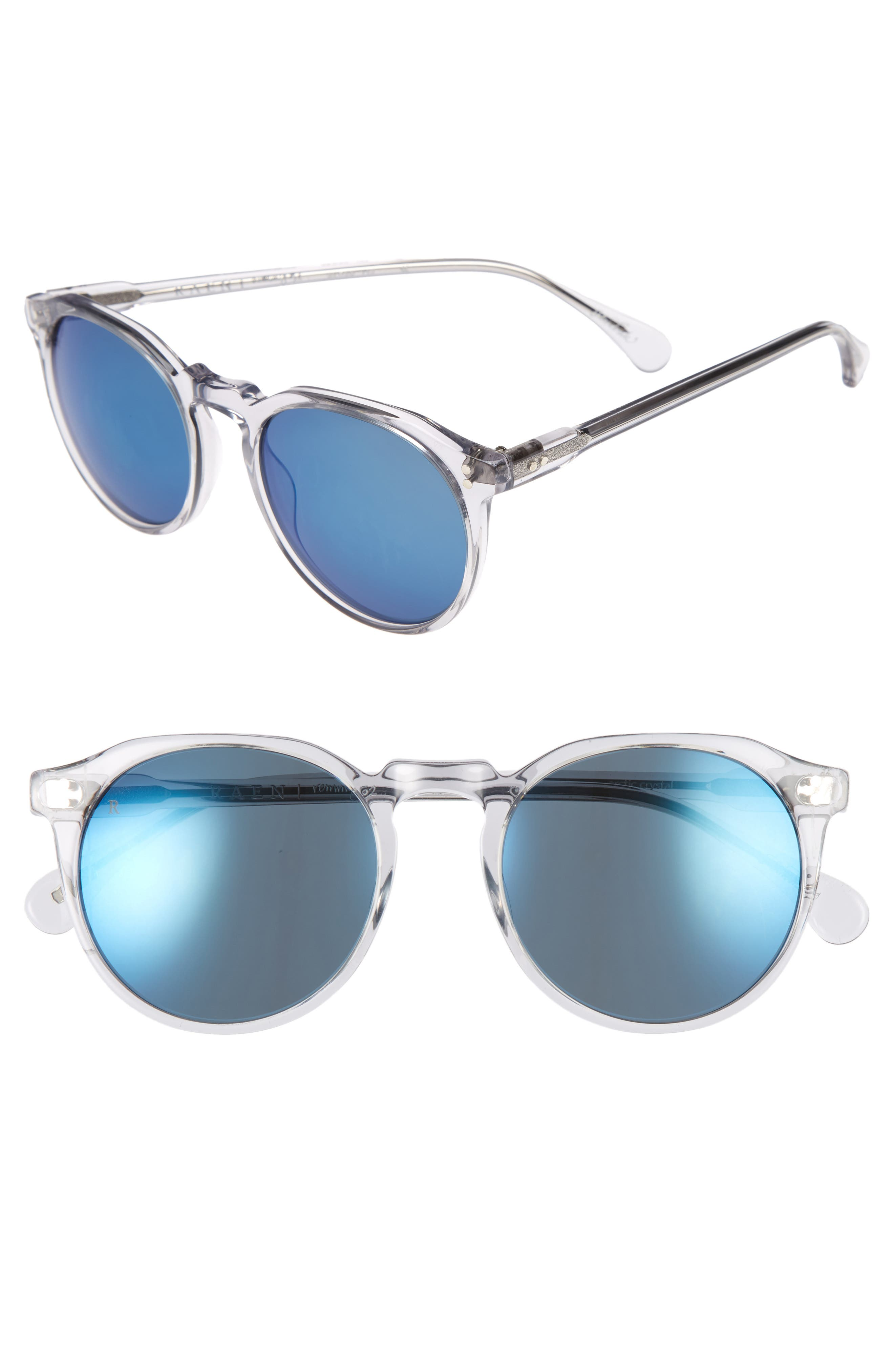 Remmy 52mm Sunglasses,                             Main thumbnail 1, color,                             Artic Crystal