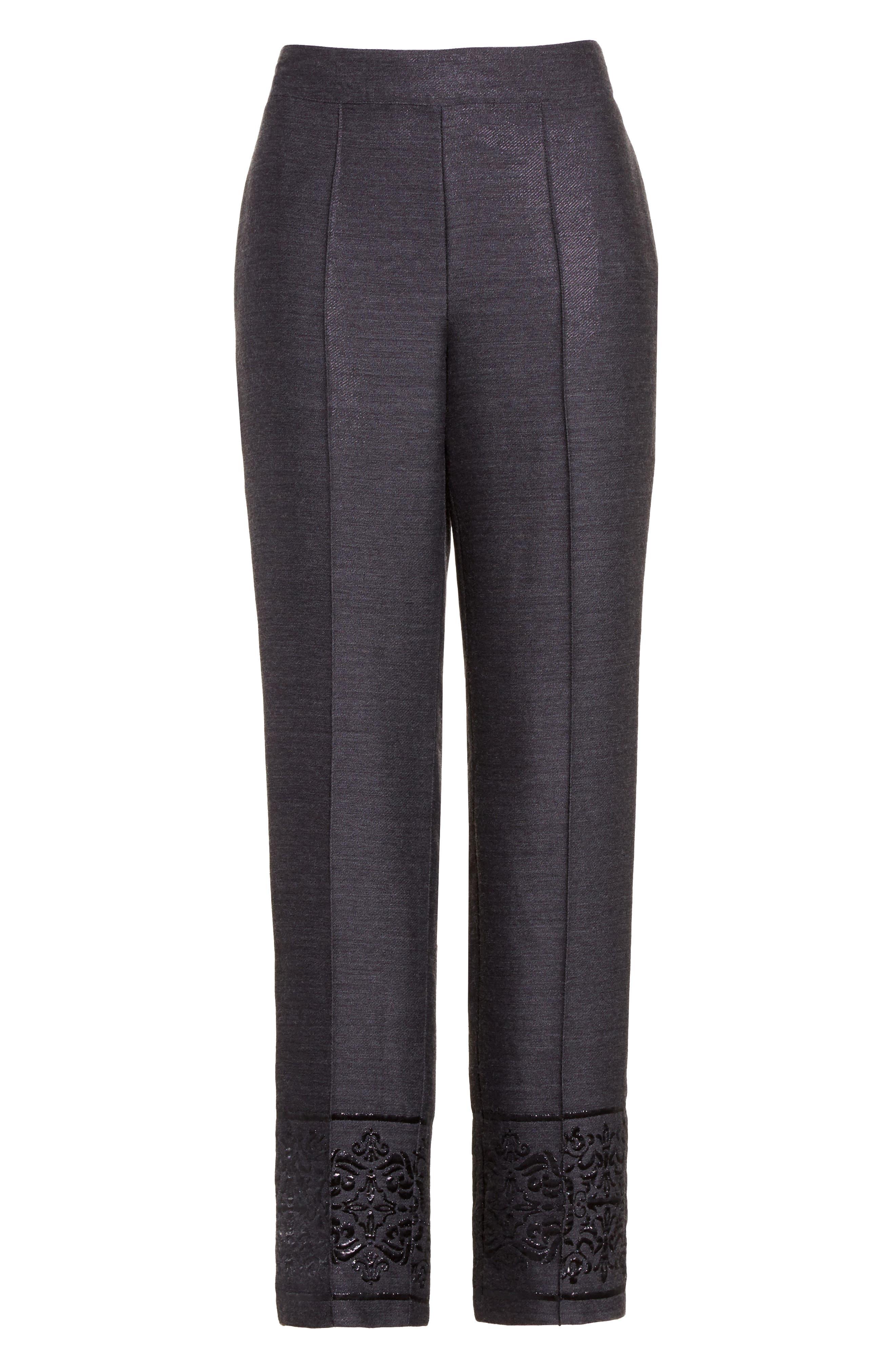 Alternate Image 6  - St. John Collection Shavari Jacquard Crop Pants