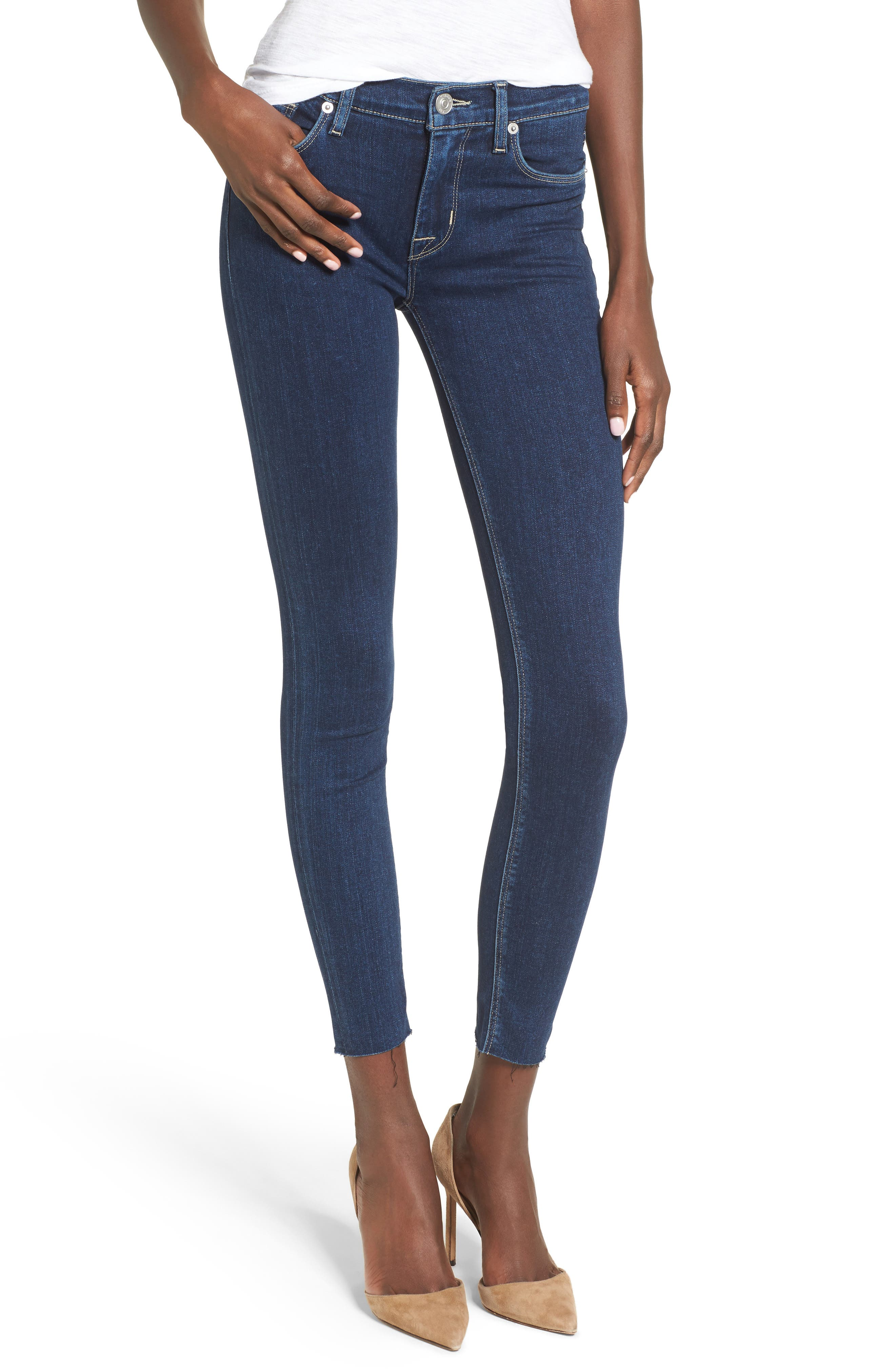 Alternate Image 1 Selected - Hudson Jeans Nico Ankle Skinny Jeans (Unruly)