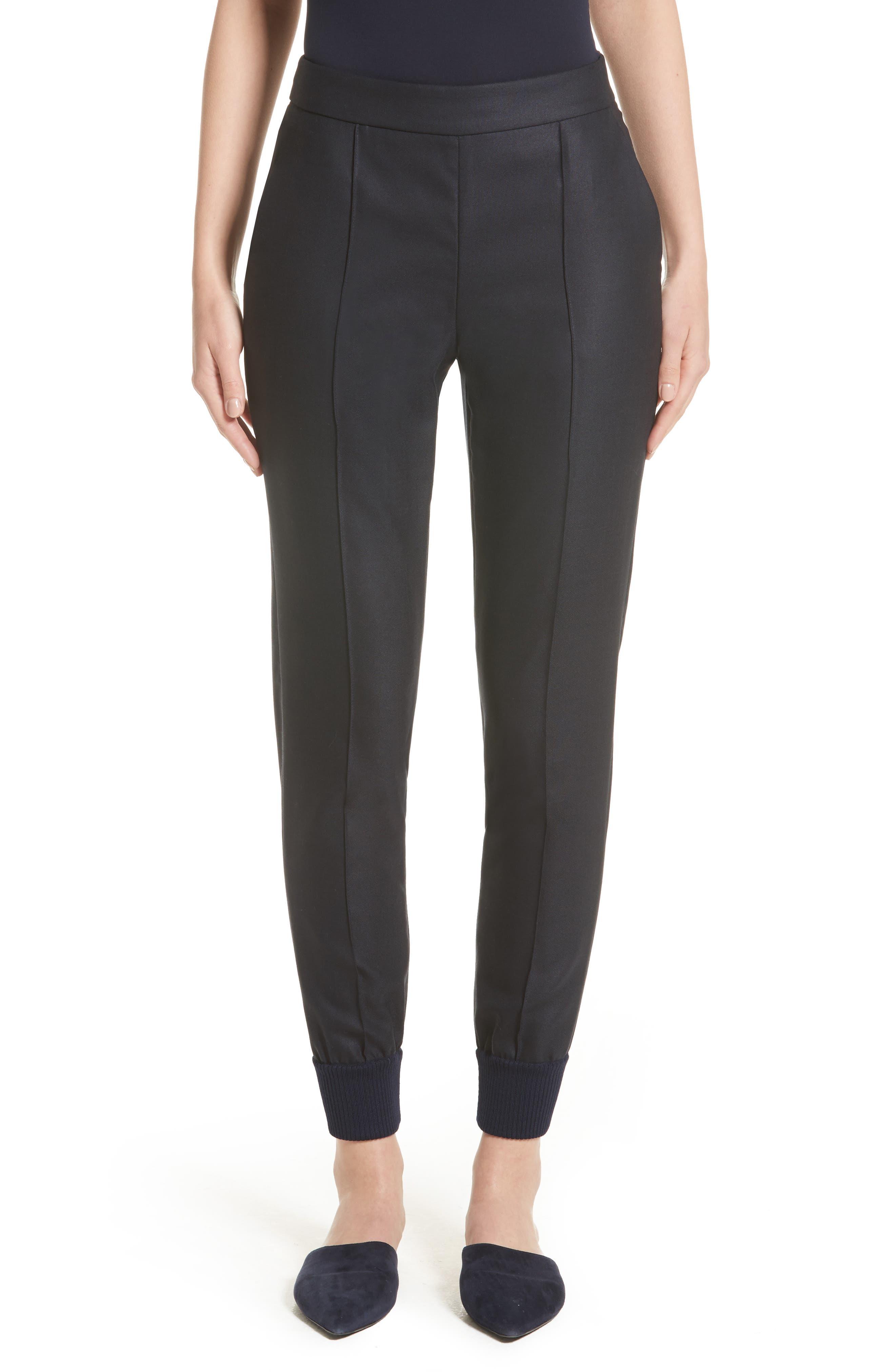 Main Image - St. John Collection Stretch Birdseye Skinny Pants