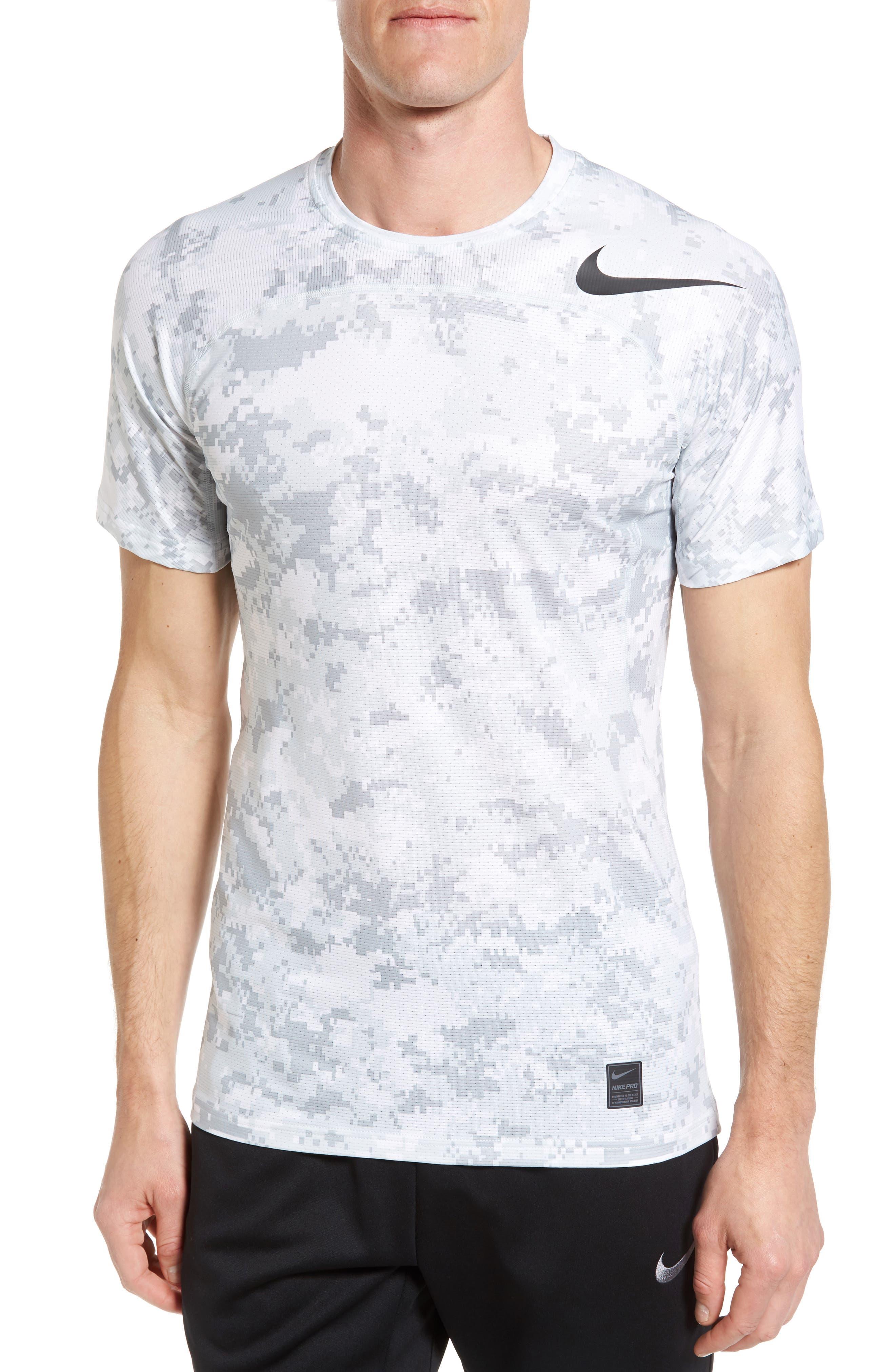 Pro Hypercool Seamless T-Shirt,                         Main,                         color, White/ Pure Platinum