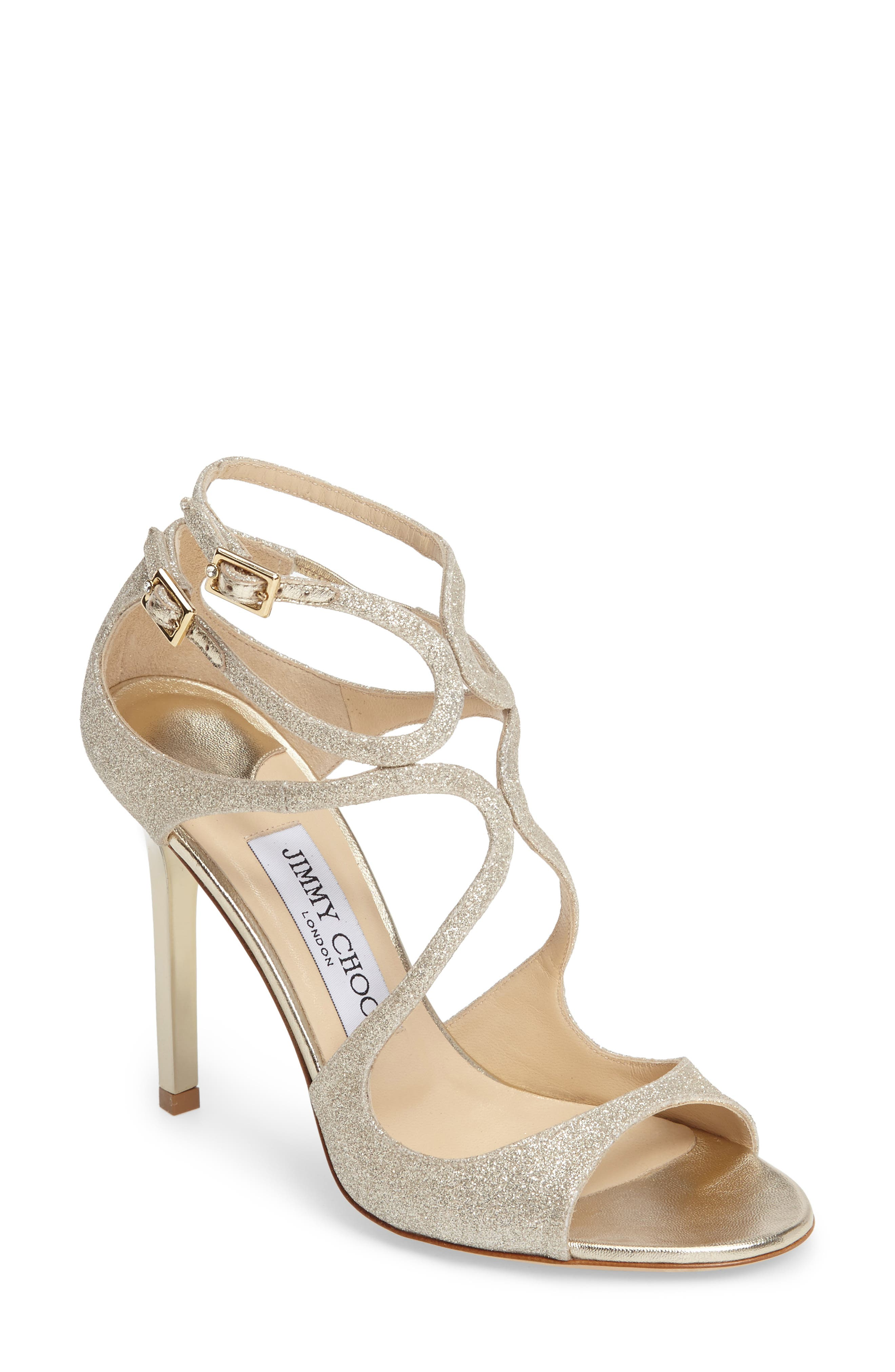 Jimmy Choo Lang Glitter Sandal (Women)