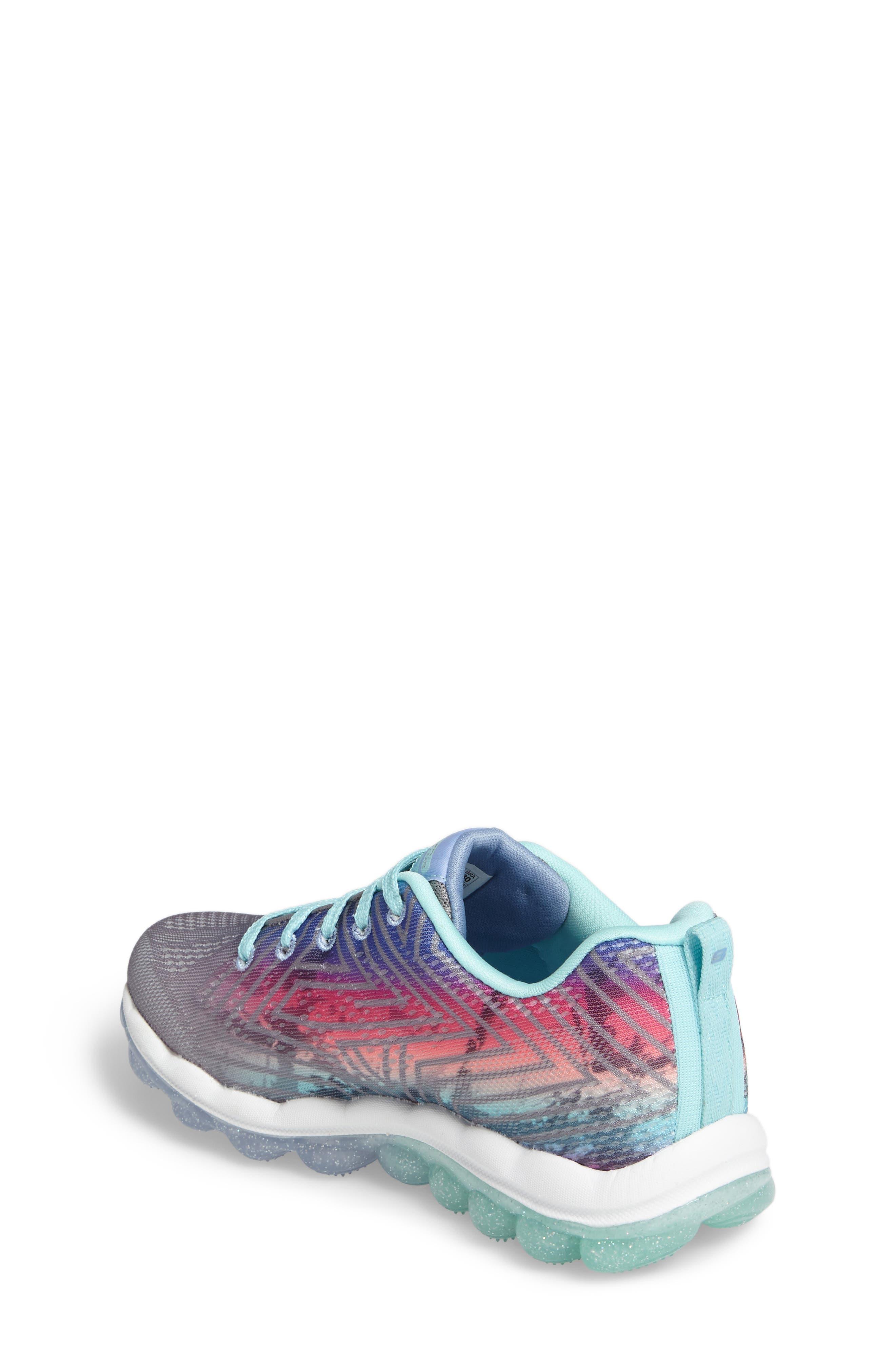 Skech-Air Jump Around Sneaker,                             Alternate thumbnail 2, color,                             Grey/ Multi