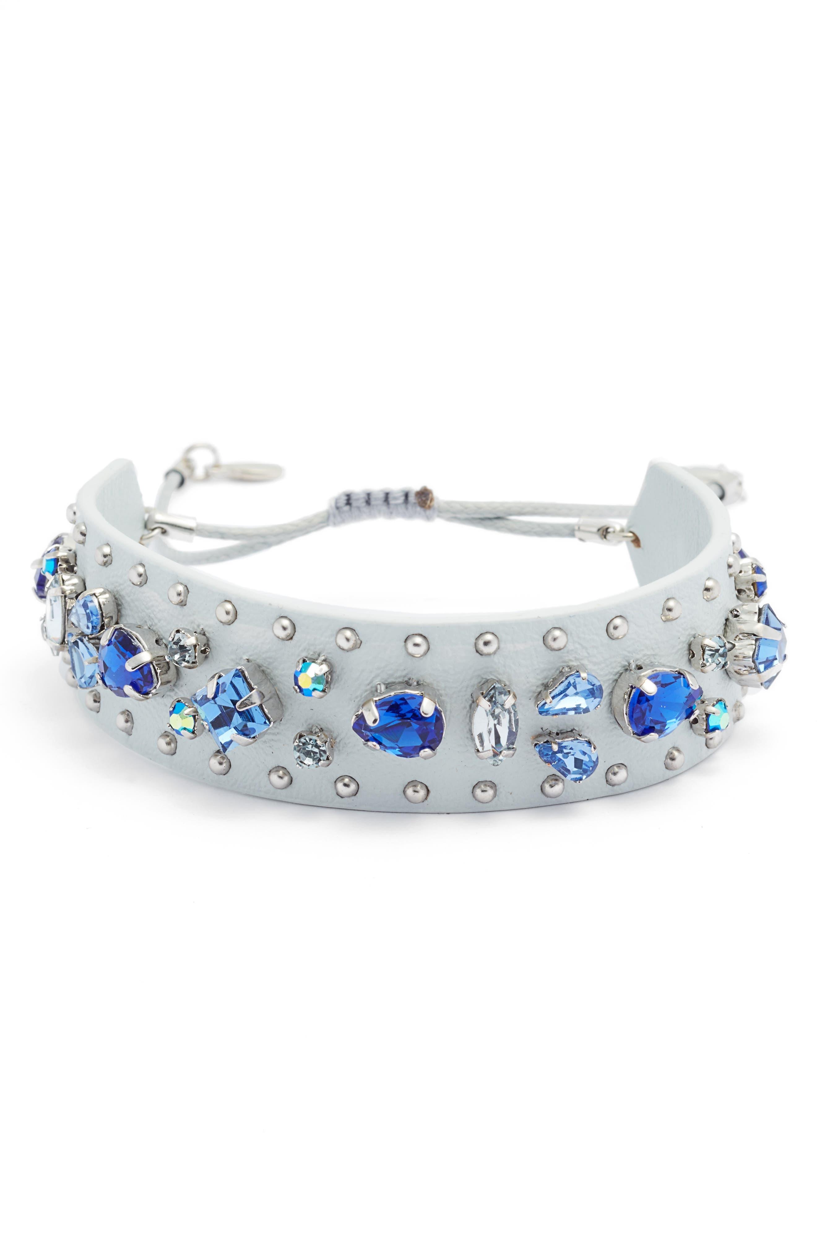 REBECCA MINKOFF Crystal Guitar Strap Bracelet