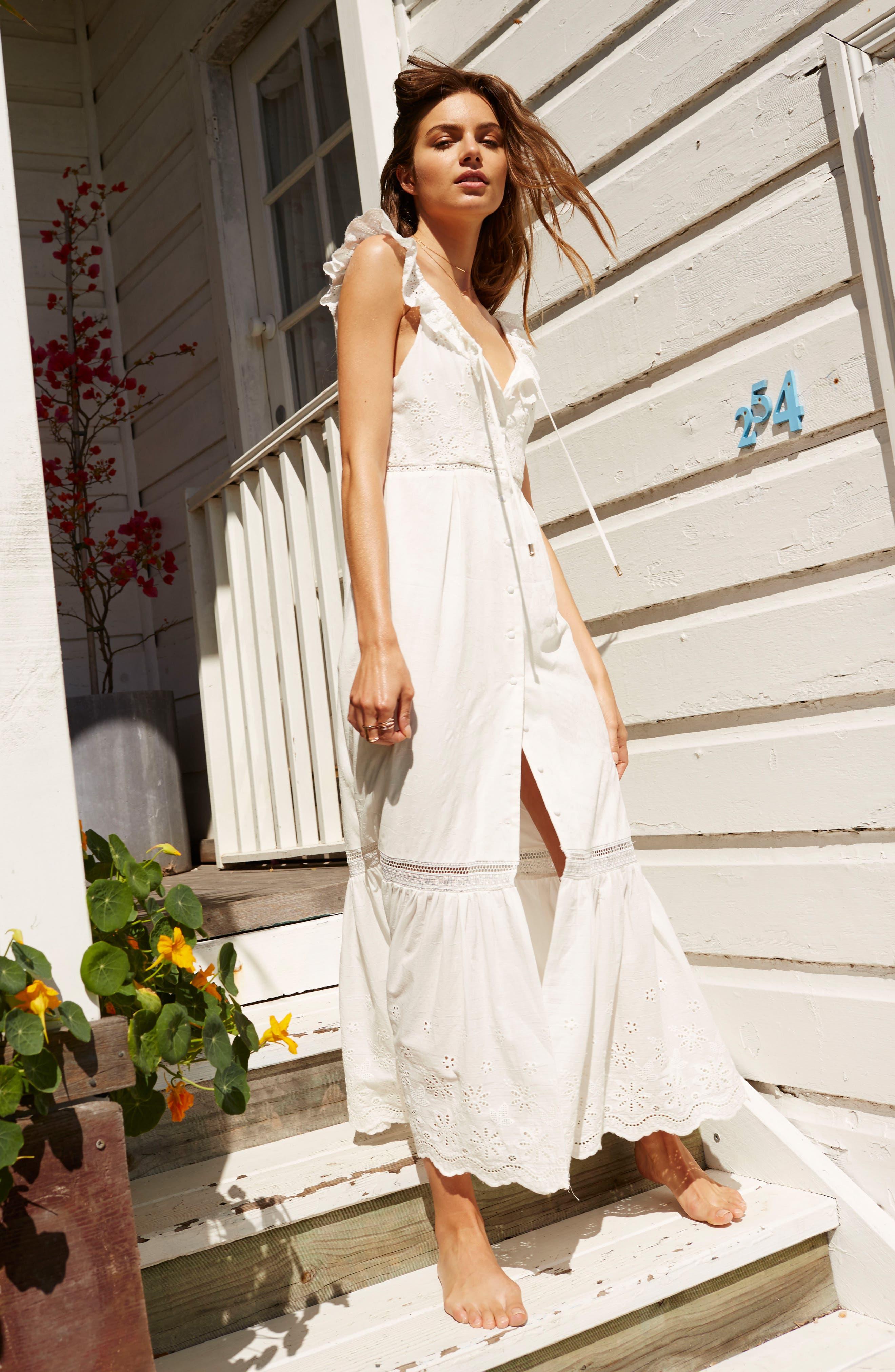Alternate Image 7  - Somedays Lovin Sky Might Fall Midi Dress