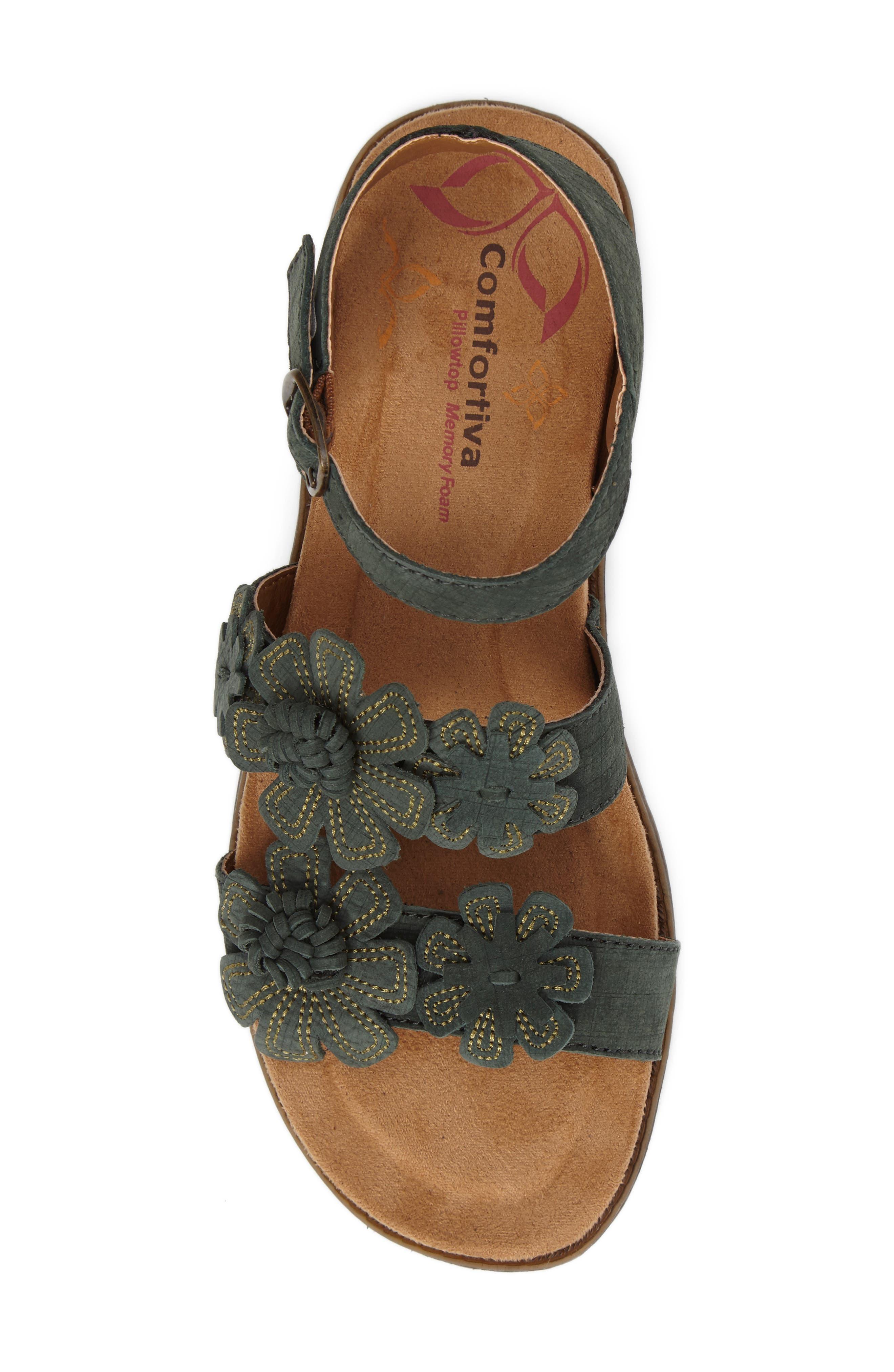Alternate Image 5  - Comfortiva Alyssa Flower Appliqué Sandal (Women)