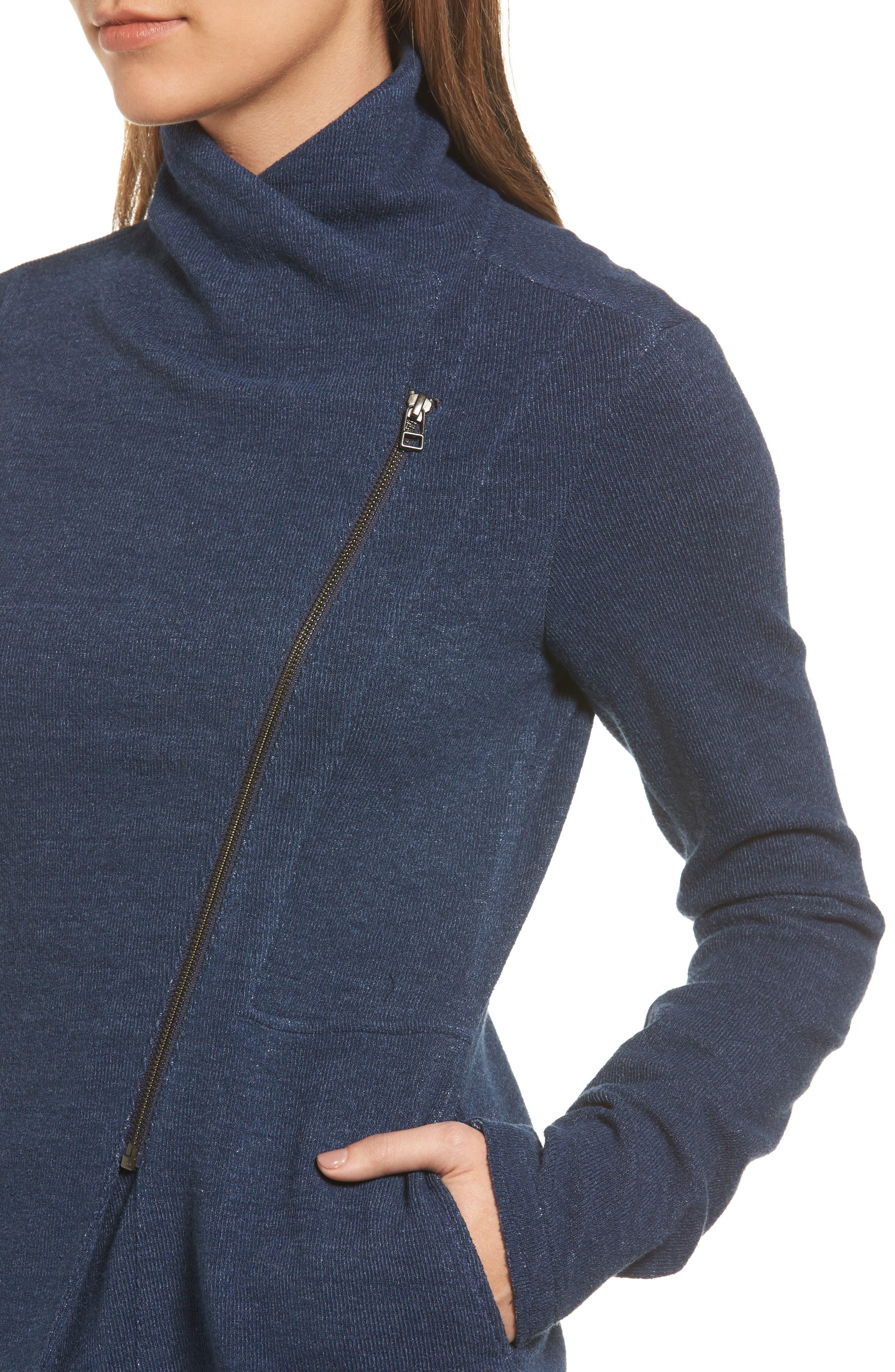 Alternate Image 4  - Caslon® Knit Moto Jacket (Regular & Petite)
