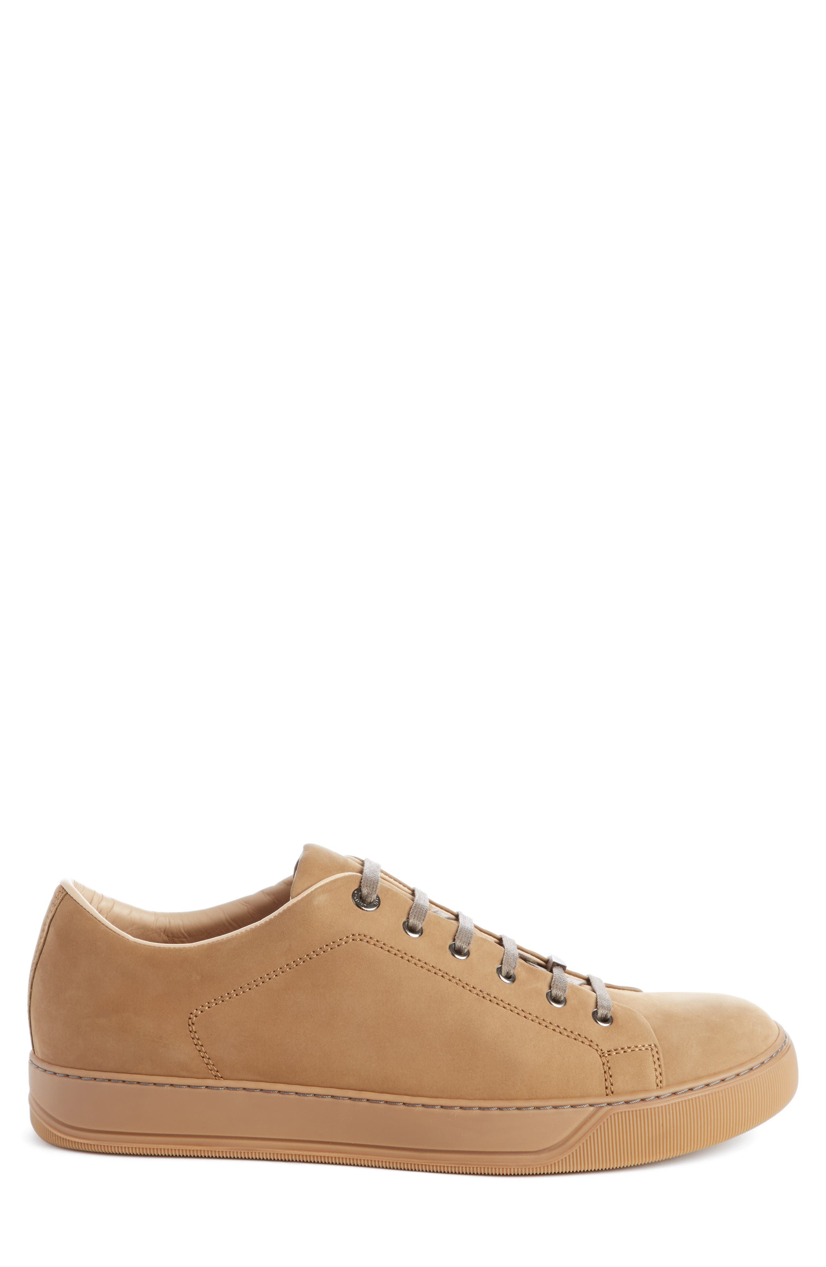 Low Top Cap Toe Sneaker,                             Alternate thumbnail 3, color,                             Havana Suede